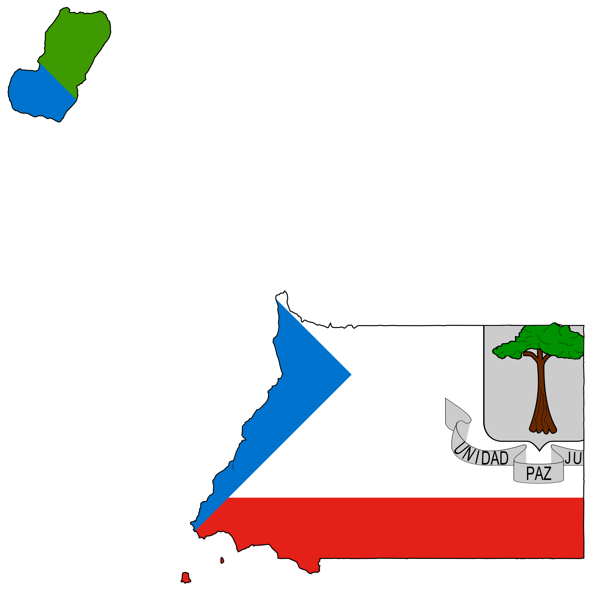 Equatorial Guinea Flag Map large map