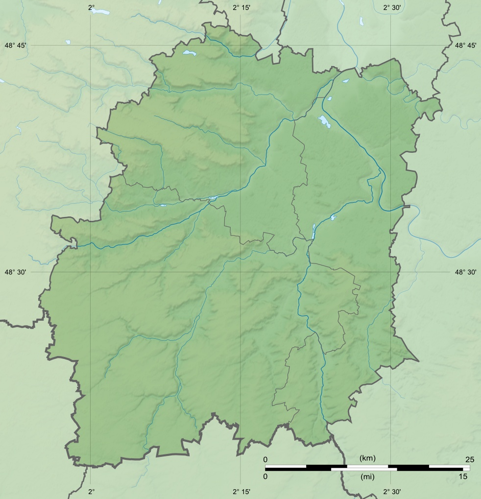 Essonne Department Relief Location Map large map
