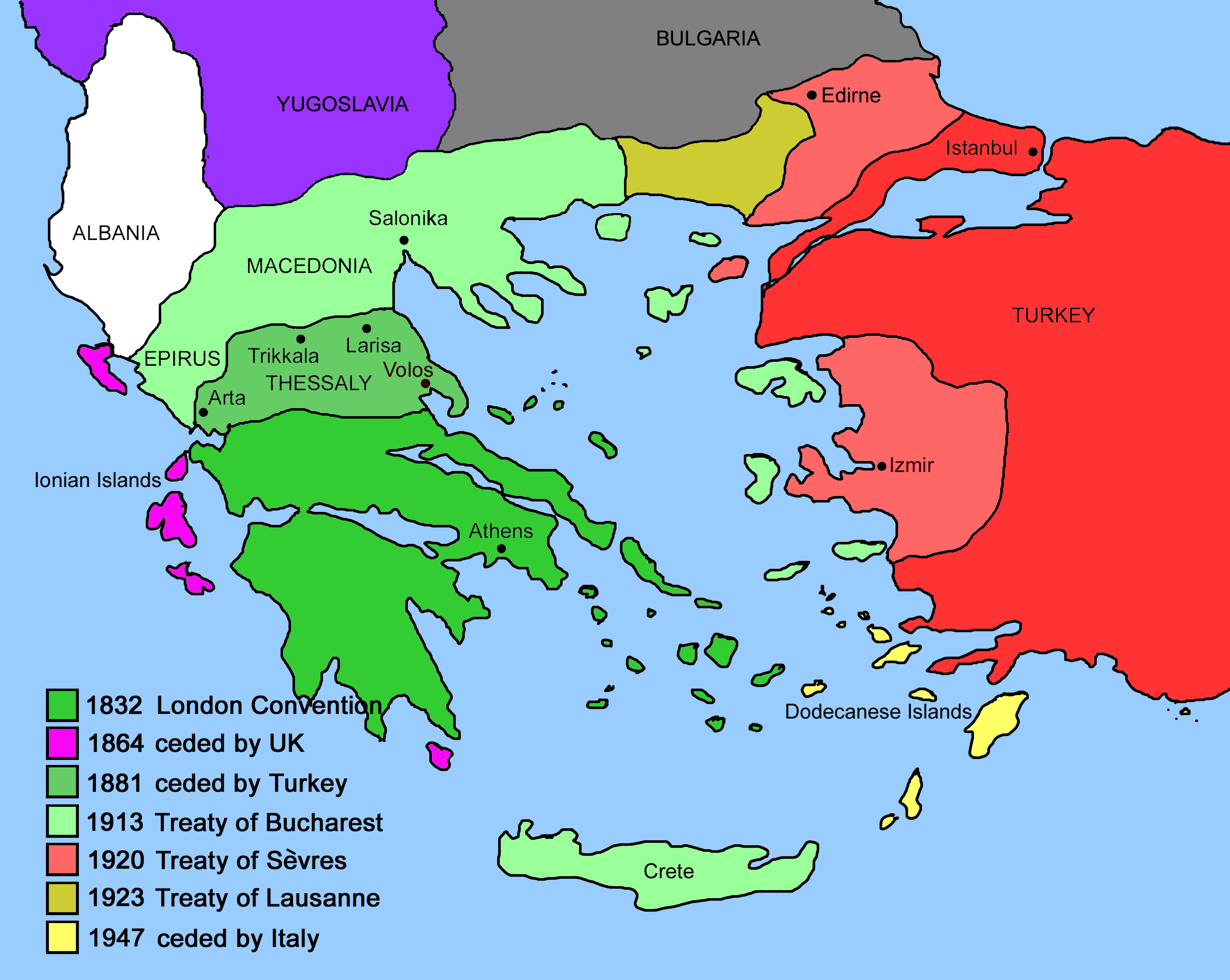 Expansion of Modern Greece Mapsofnet