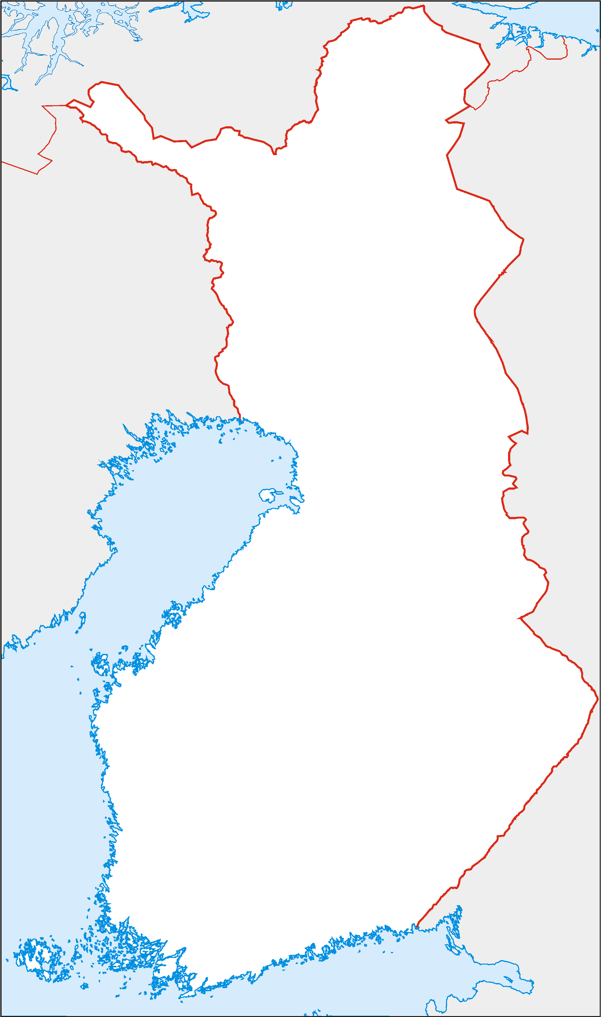 Finland Equi large map