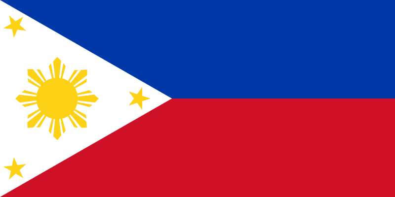 Flag of the Philippines large map