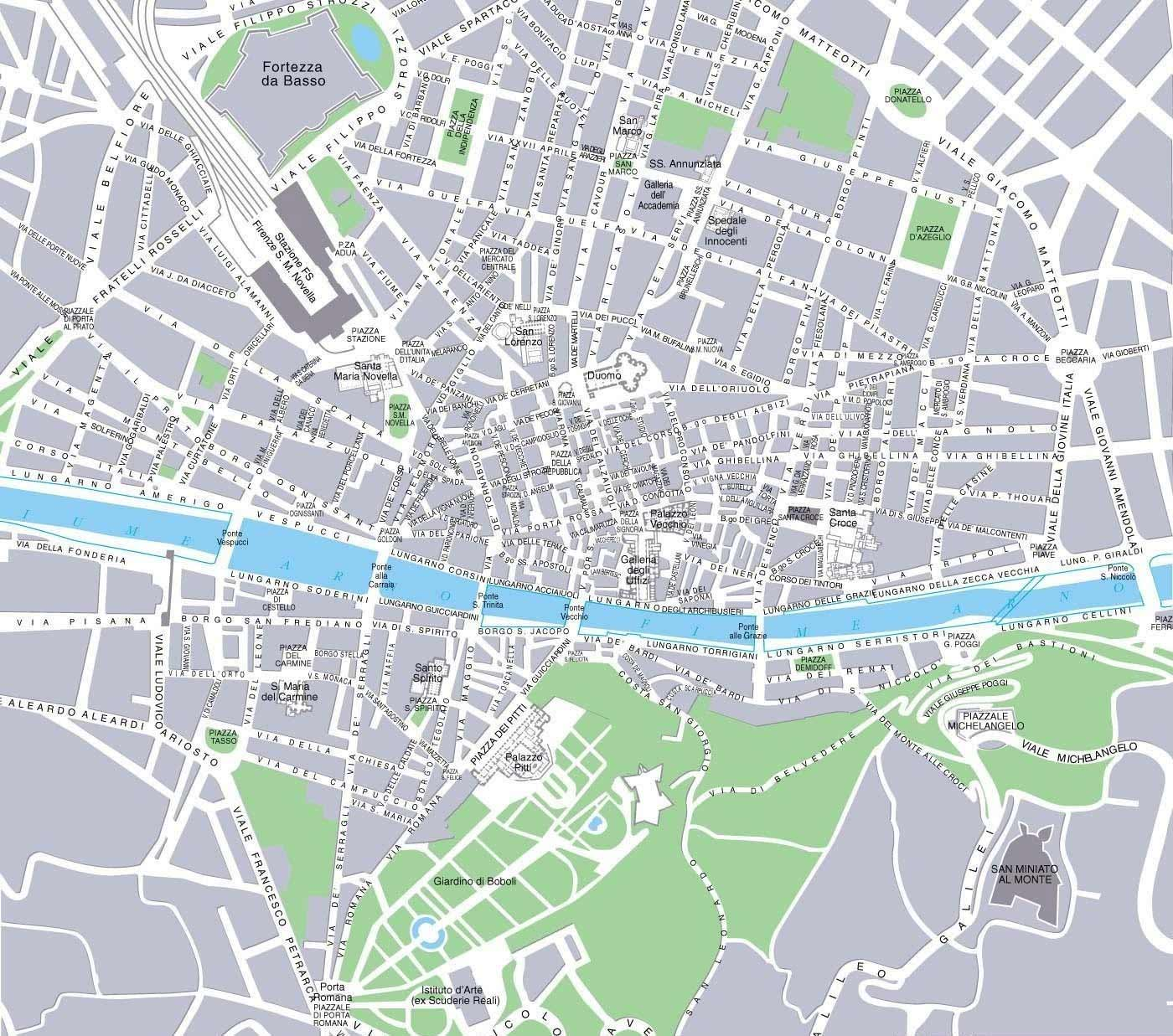 Florence City Map large map