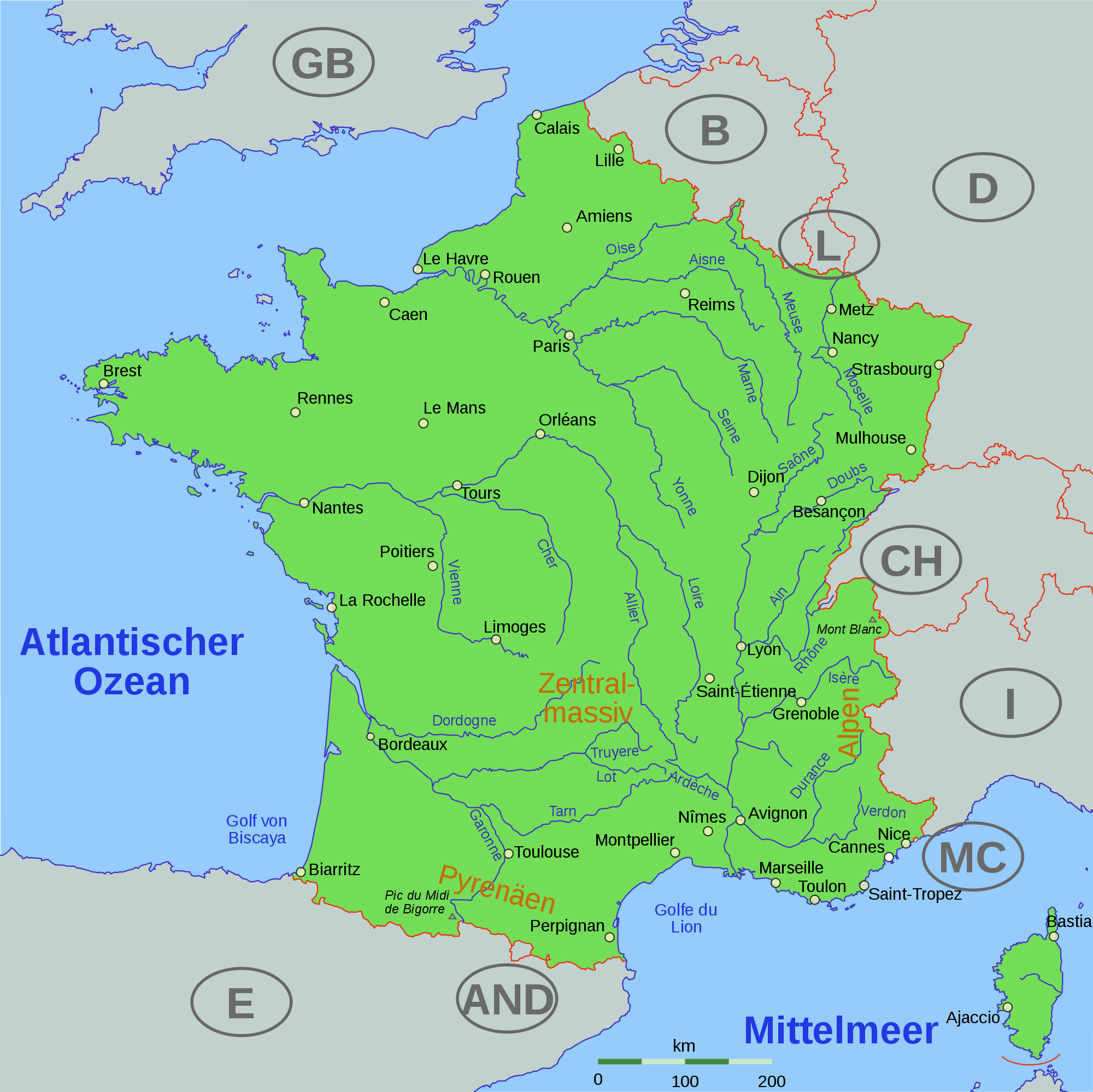 A Map Of France With Cities.France Cities Map Mapsof Net
