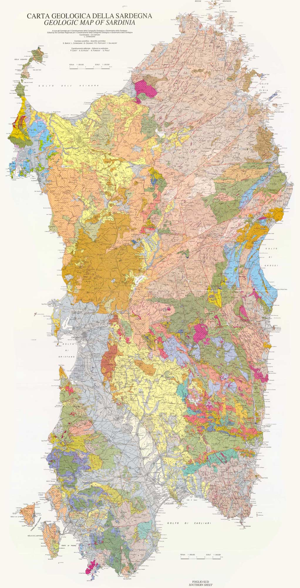 Geomorphologic And Geologic Map Sardinia Mapsofnet
