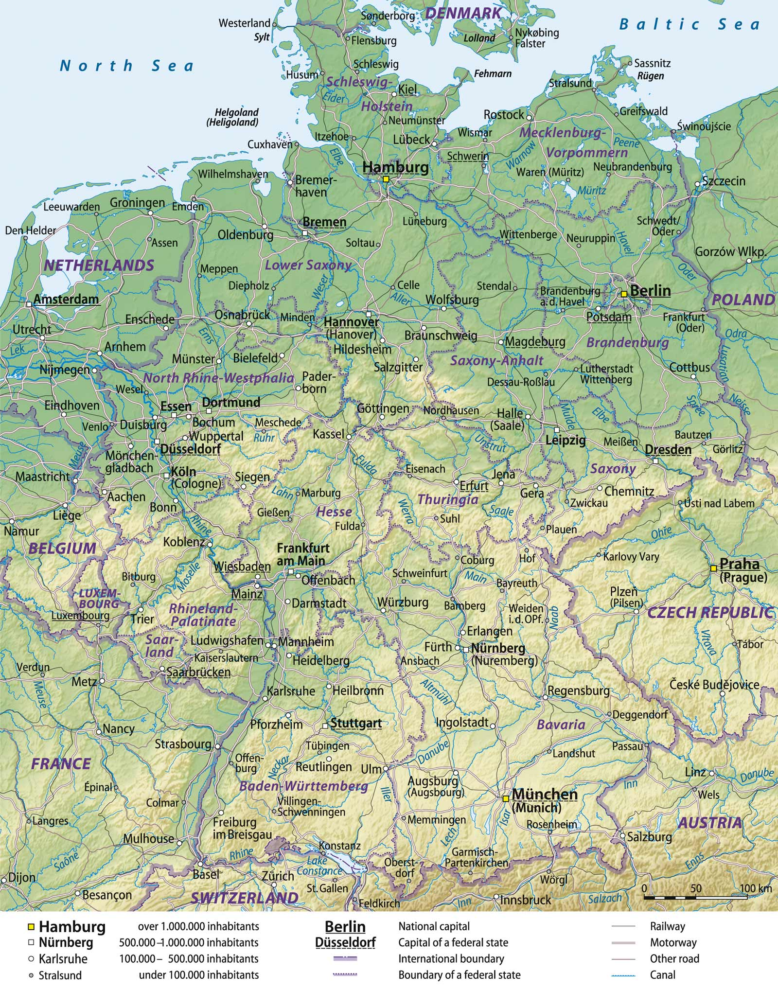 Germany General Map large map
