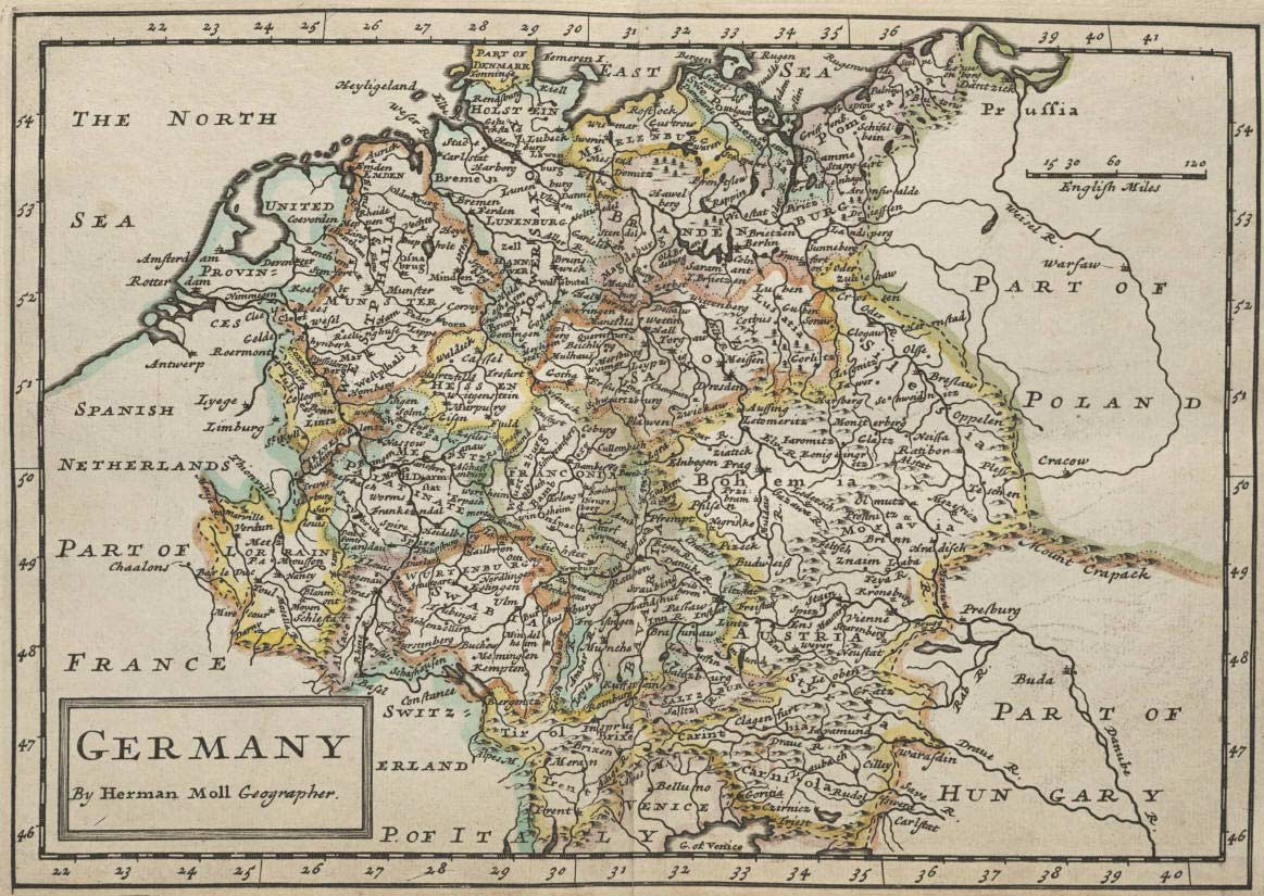 Germany Historical Map large map