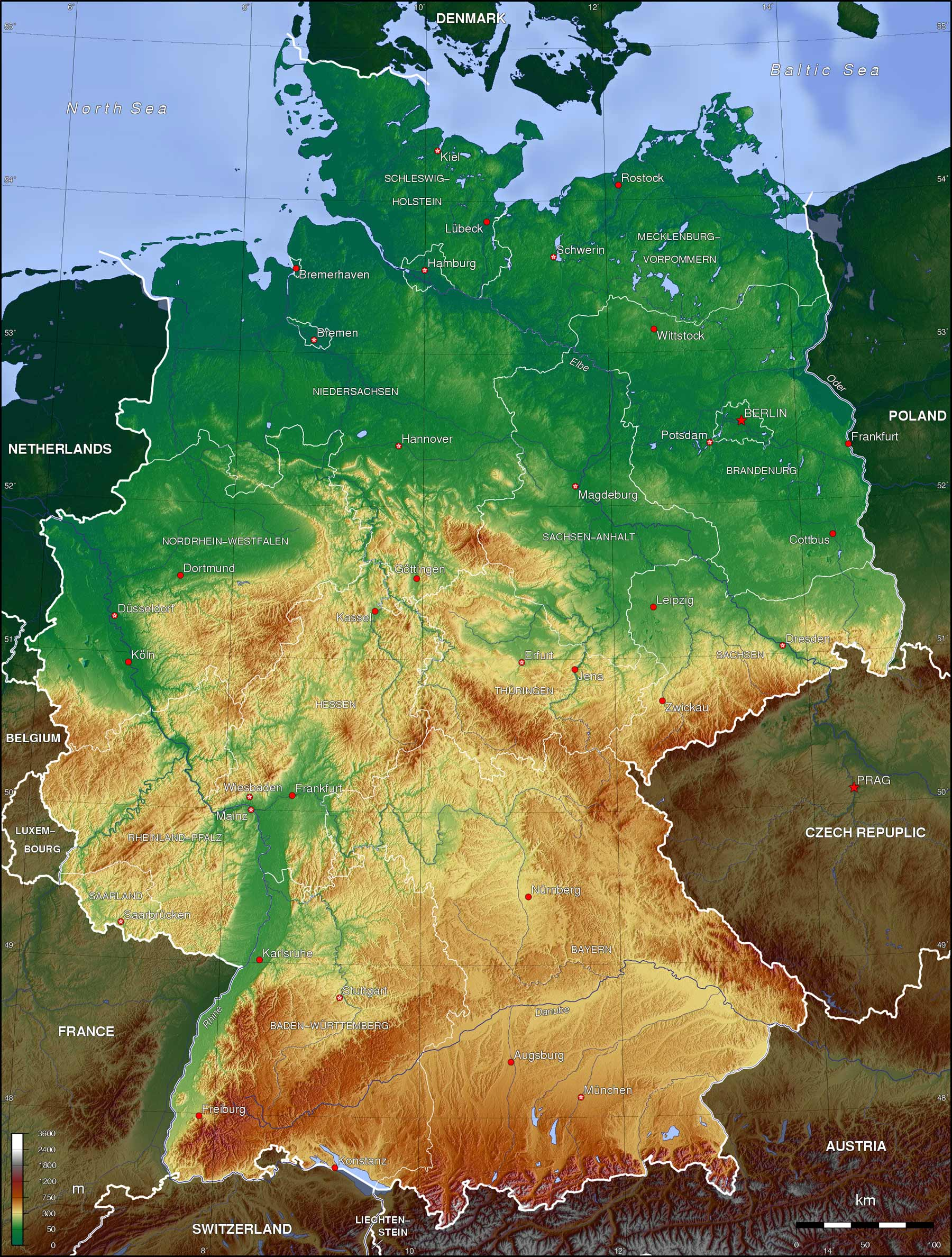 Germany Topo Map • Mapsof.net