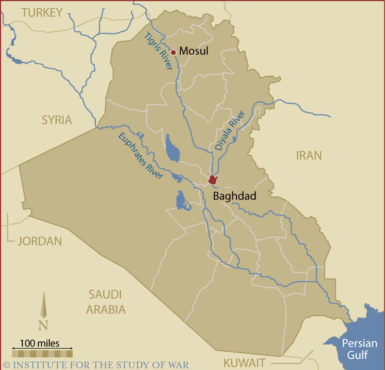 Iraq Country Map large map