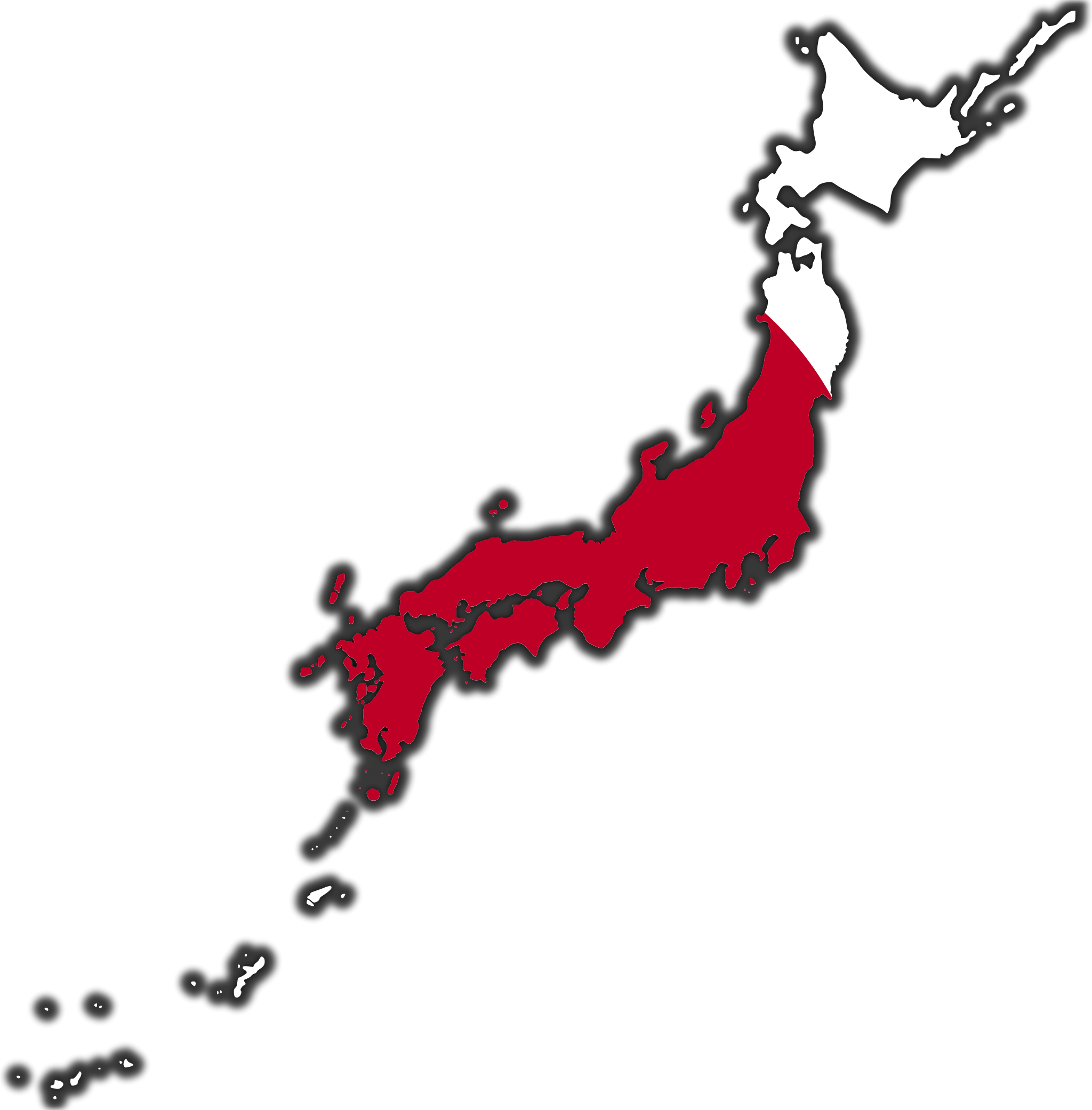 Japan Flag Map large map