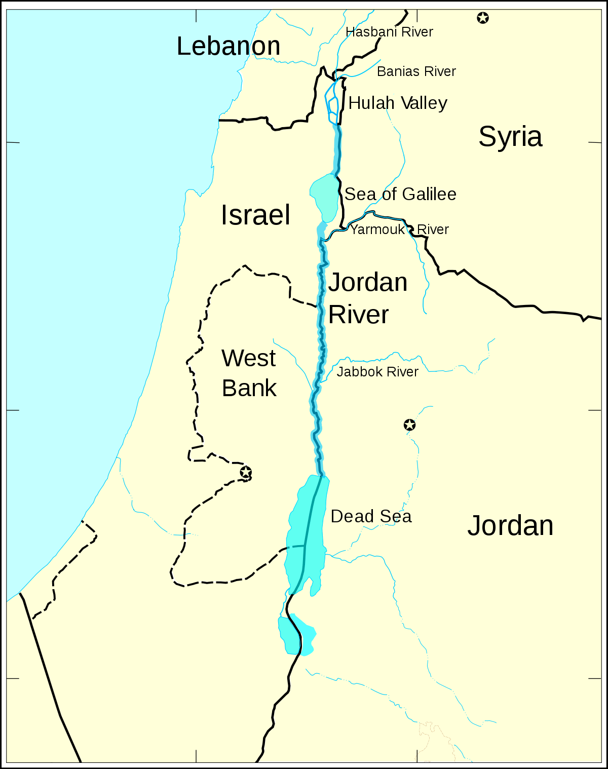 Jordan River large map