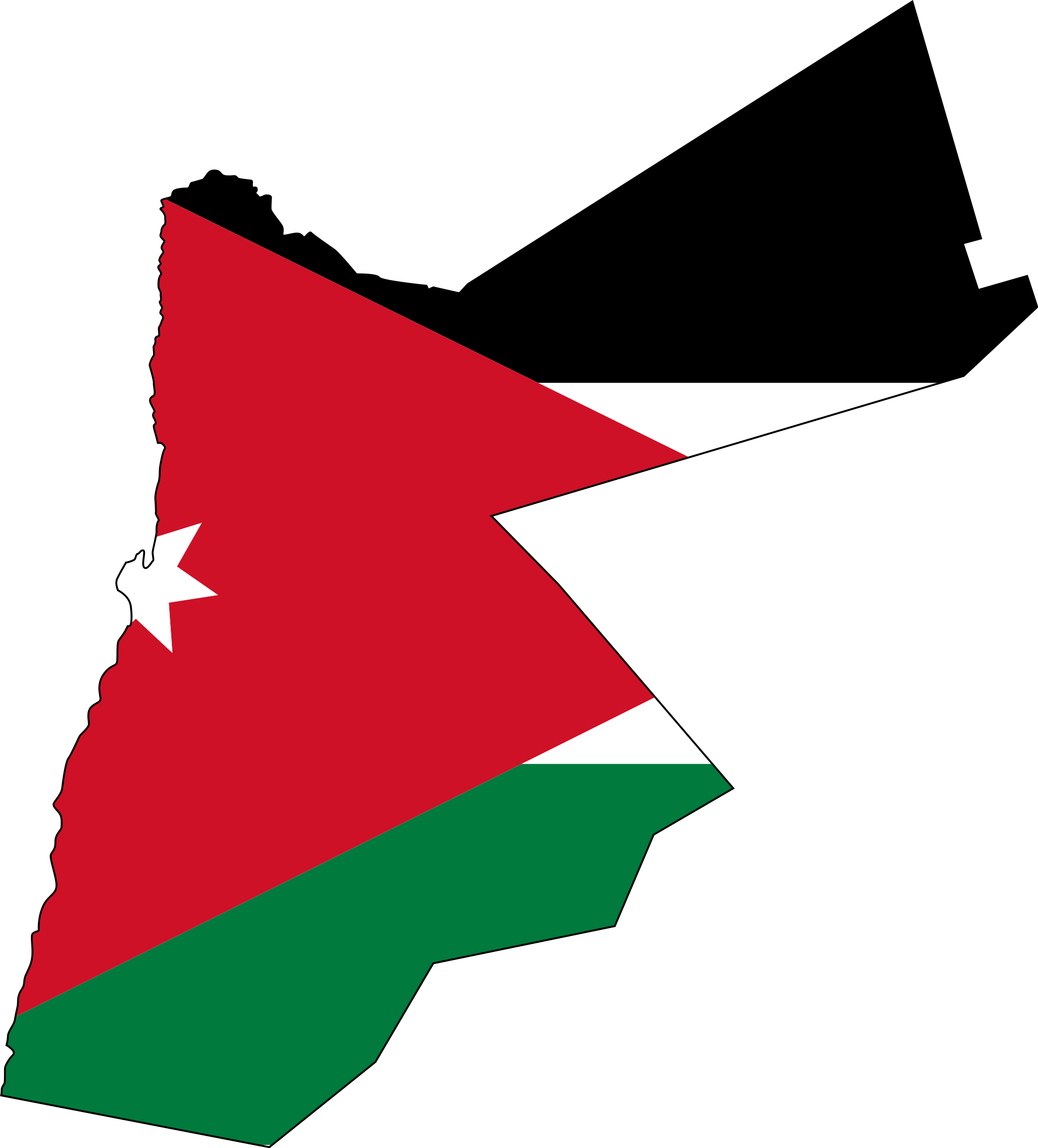 Jordan Flag Map large map