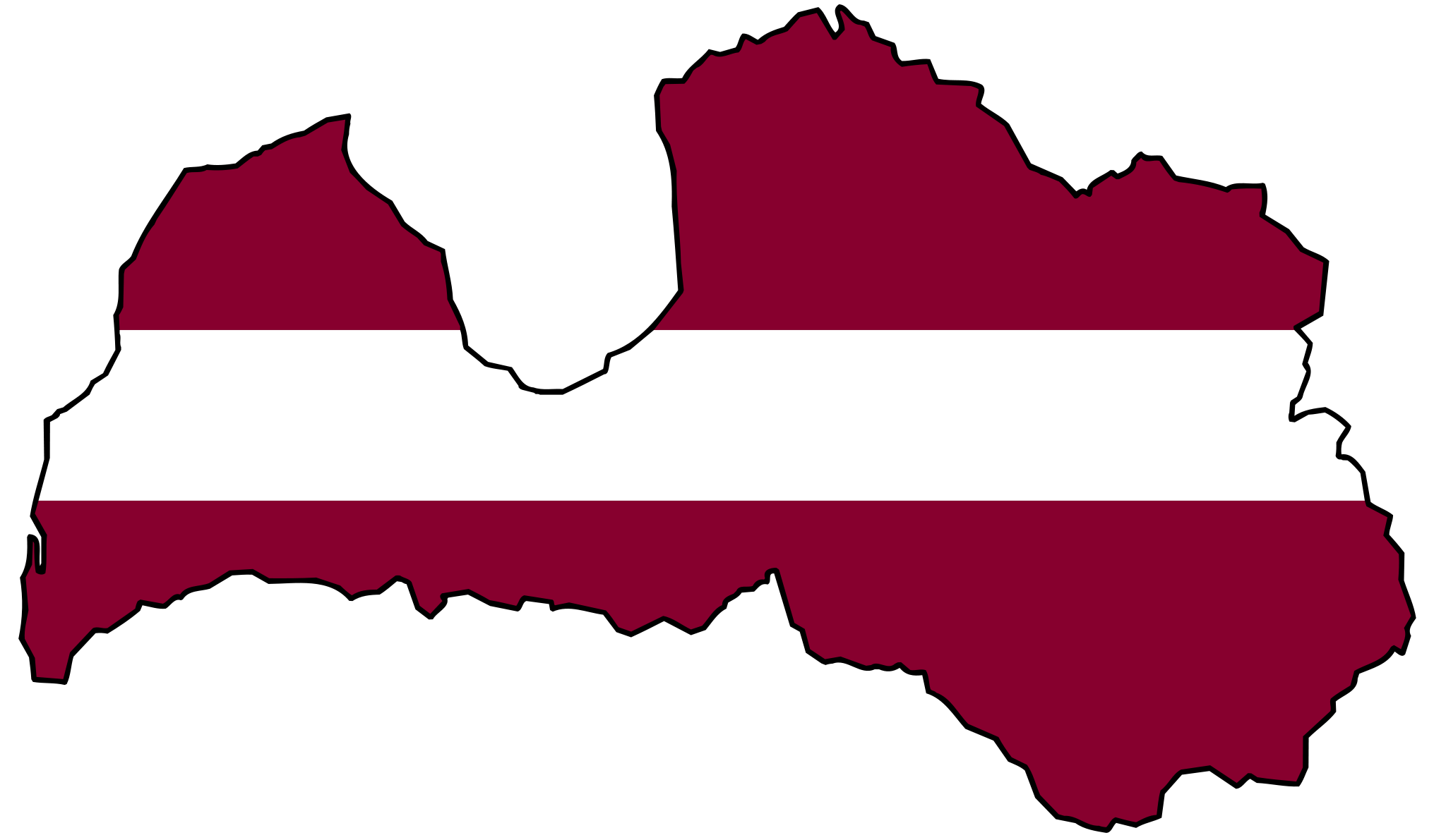 Latvia Flag Map large map