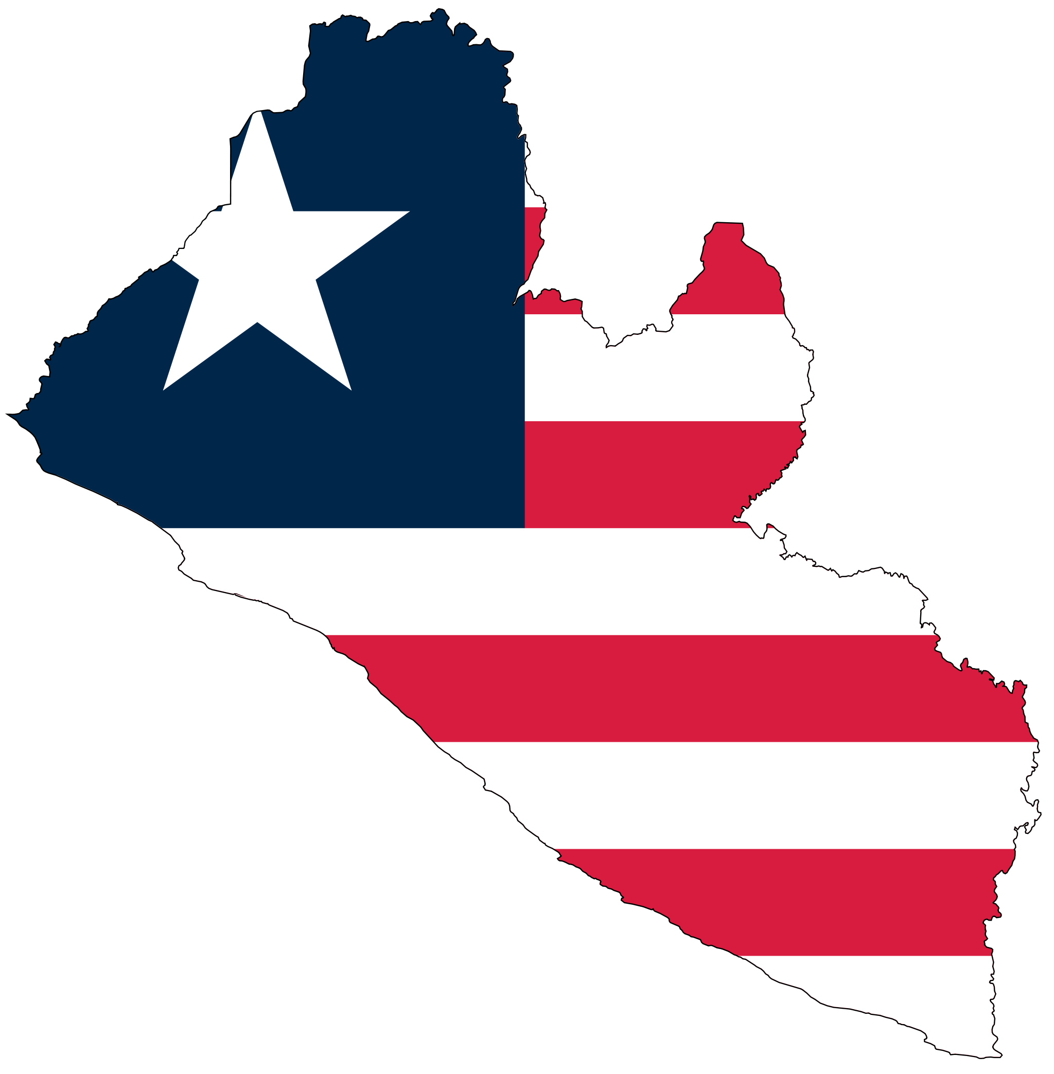 Liberia Flag Map large map