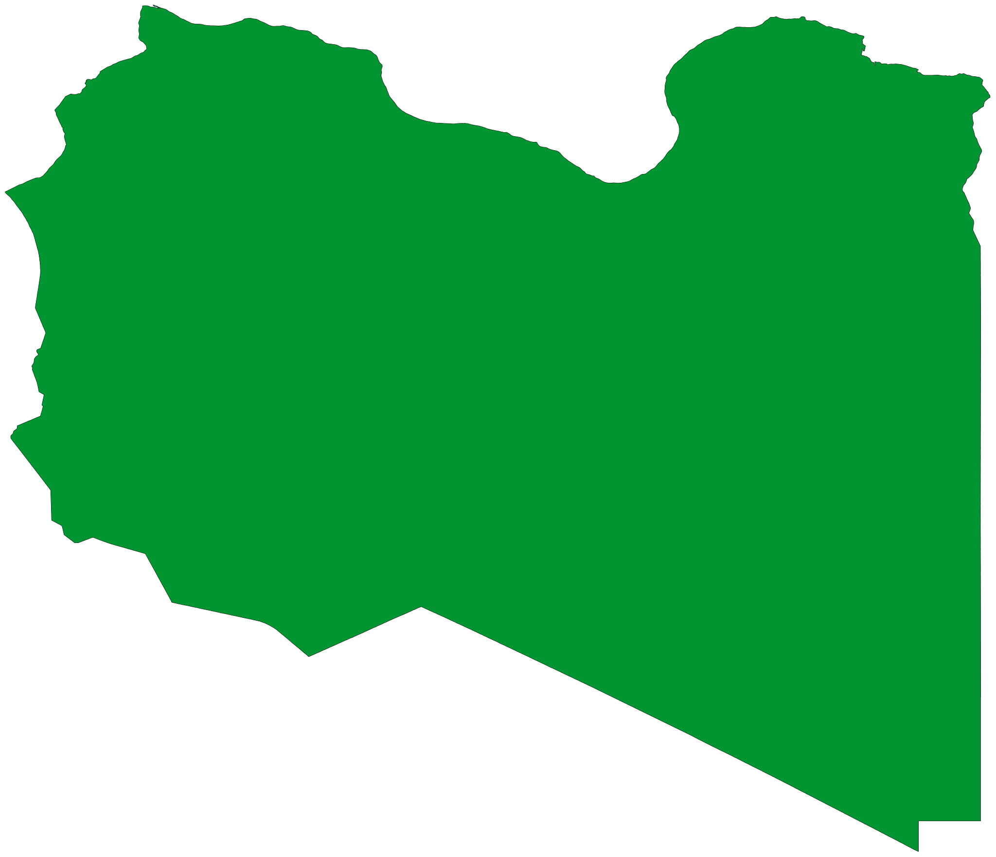 Libya Flag Map large map