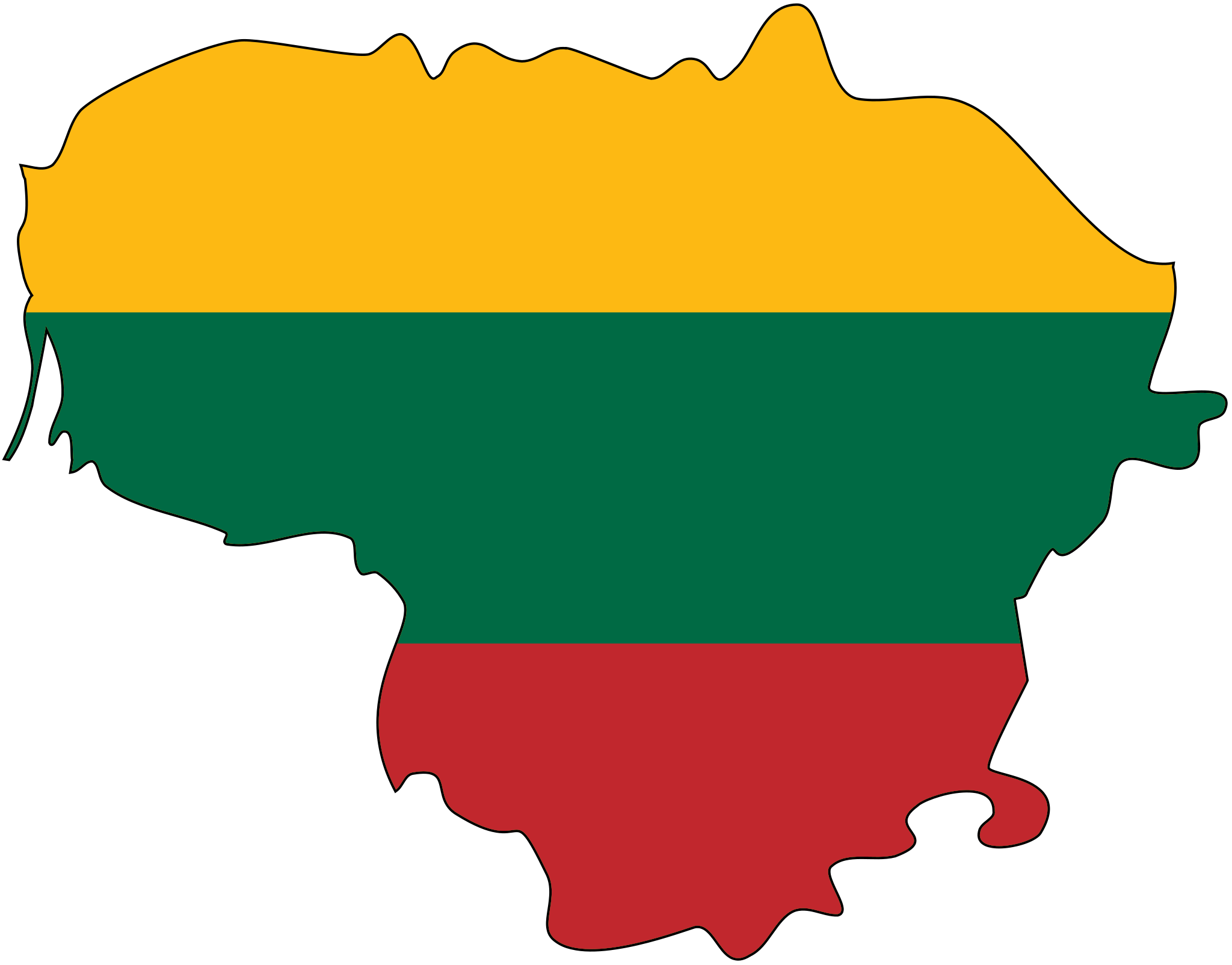 Lithuania Flag Map large map