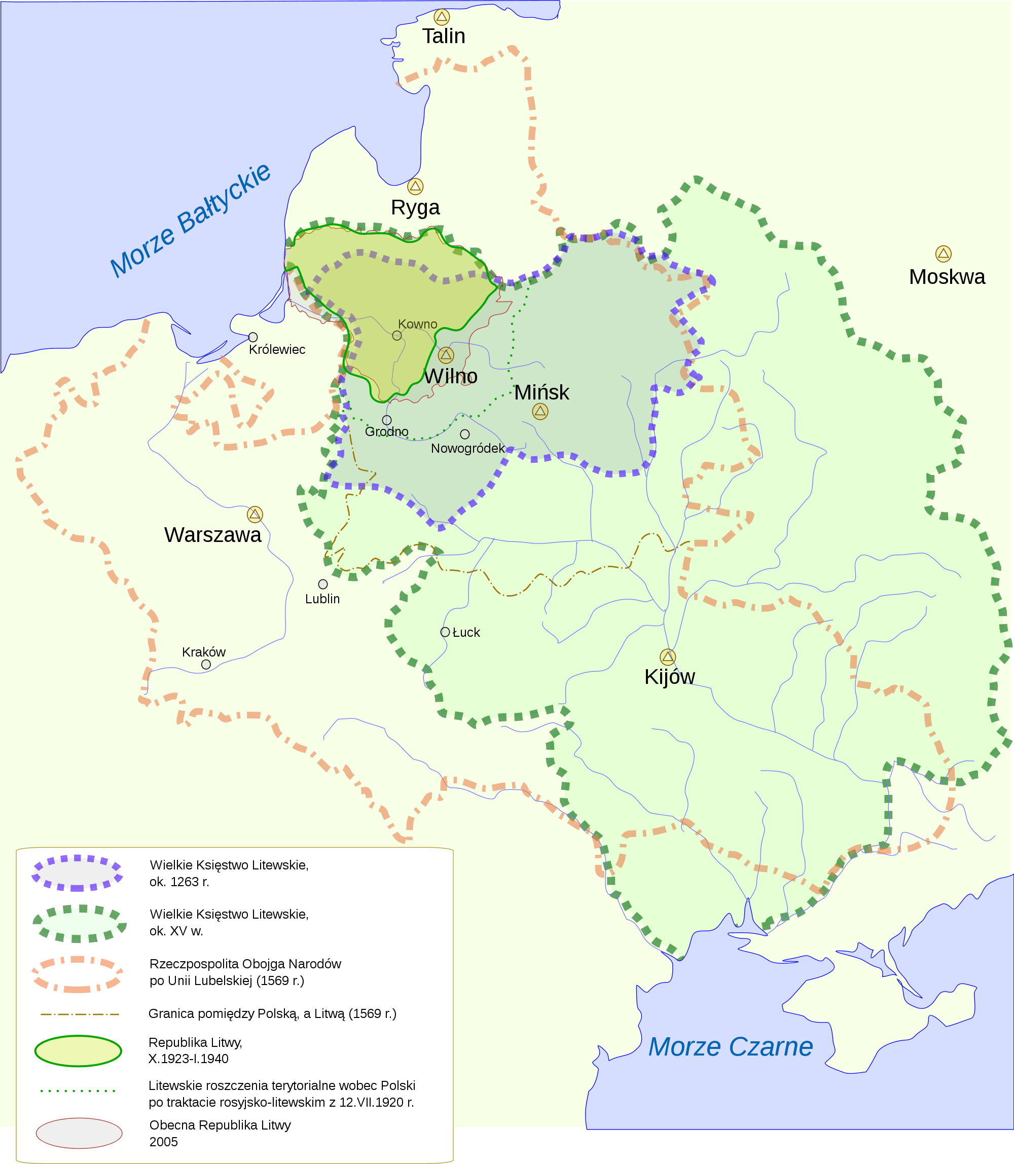 Lithuanian History Pl large map