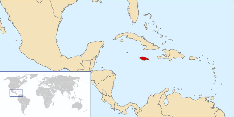 Location Jamaica Mapsofnet