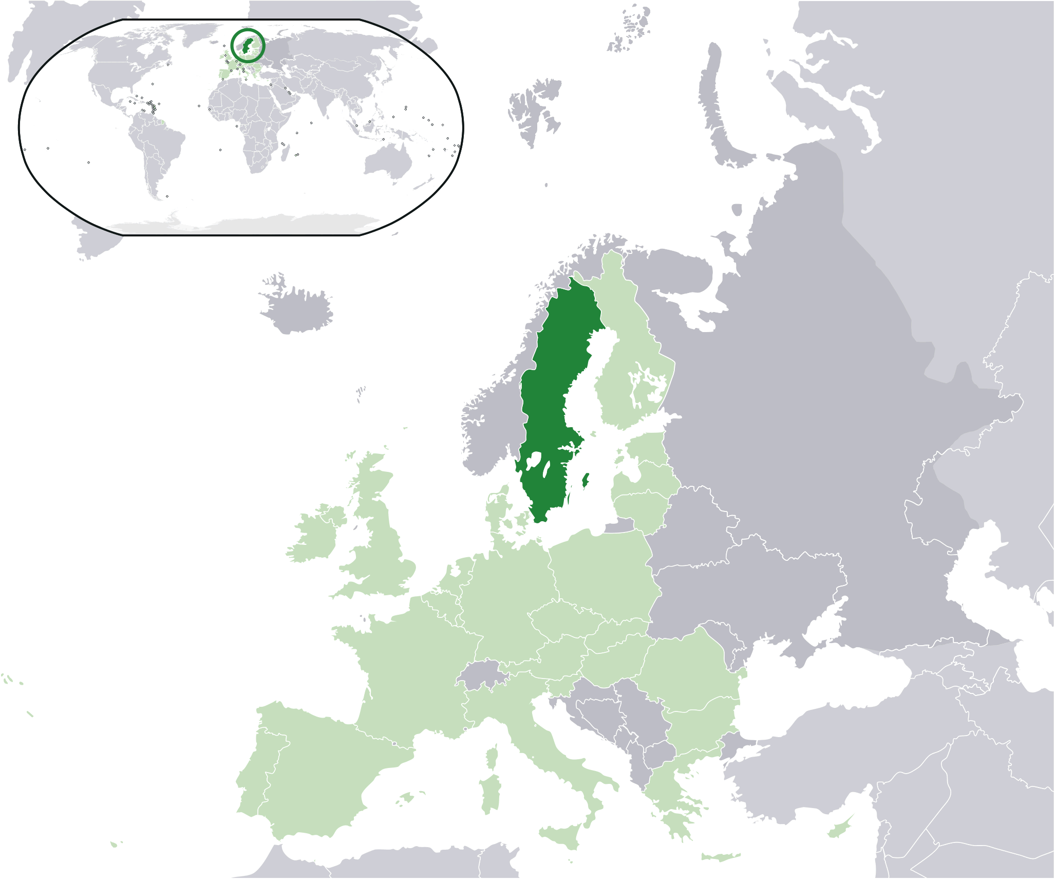 Location Sweden Eu Europe Mapsofnet - Sweden european map