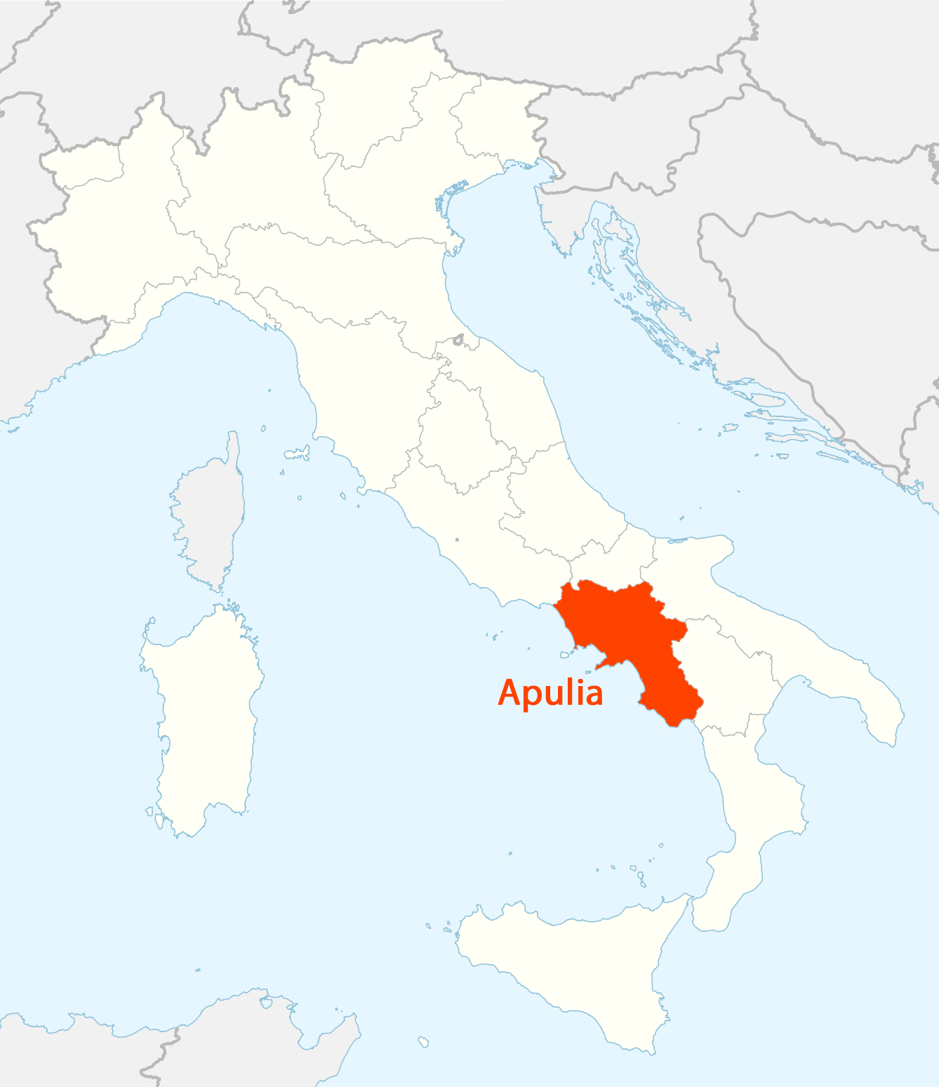 Location of Campania Map Mapsofnet