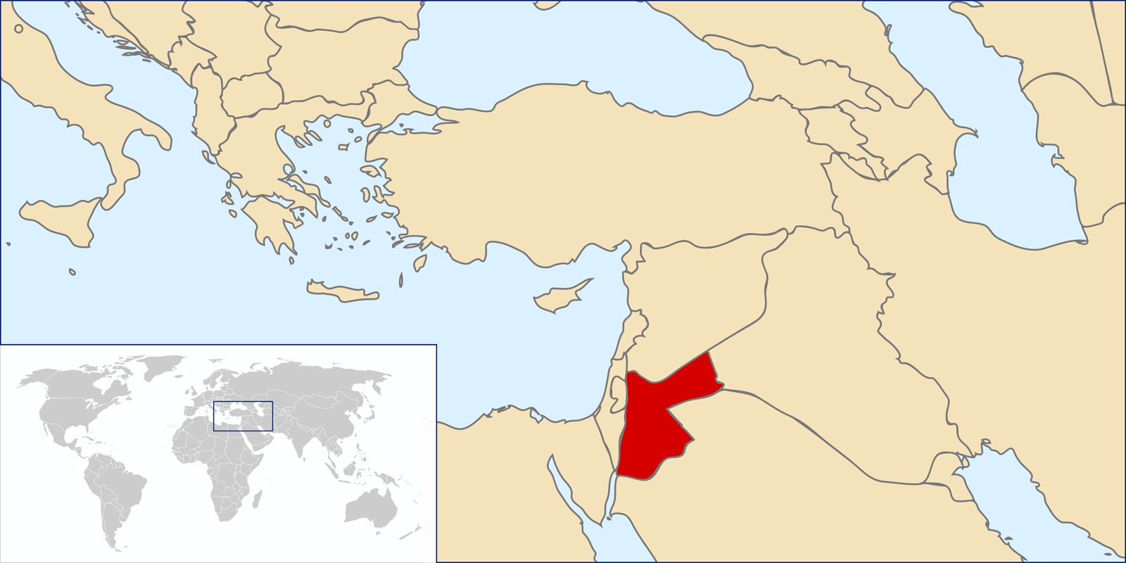Location of Jordan large map
