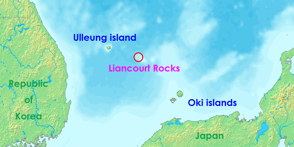 Location of Liancourt Rocks large map