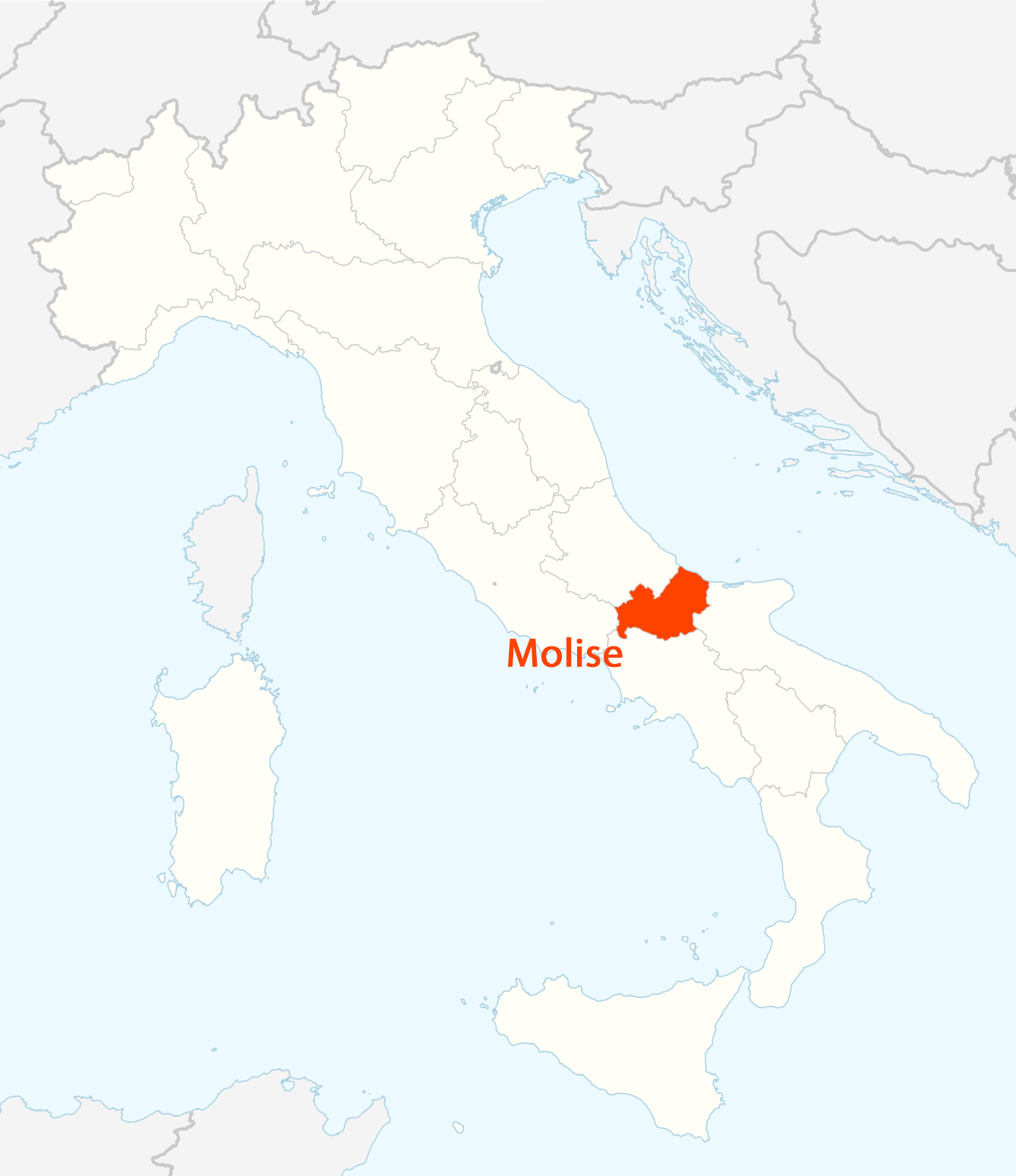 Location of Molise Map large map