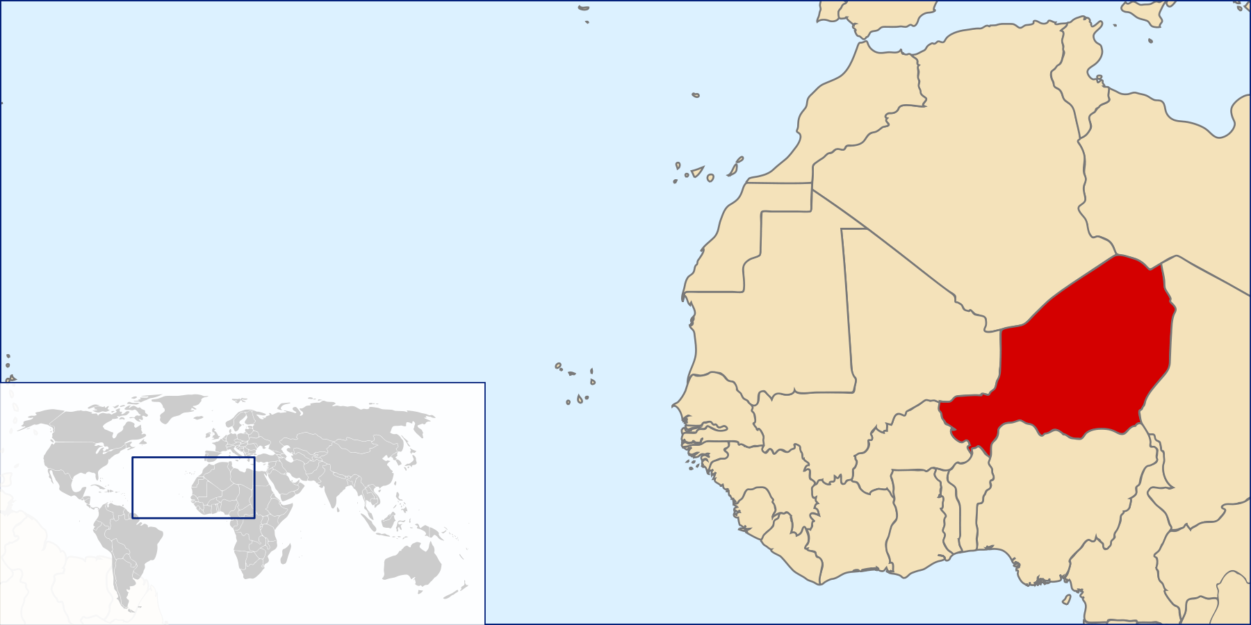 Location of Niger large map