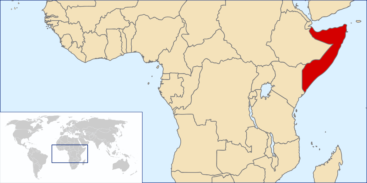 Location of Somalia
