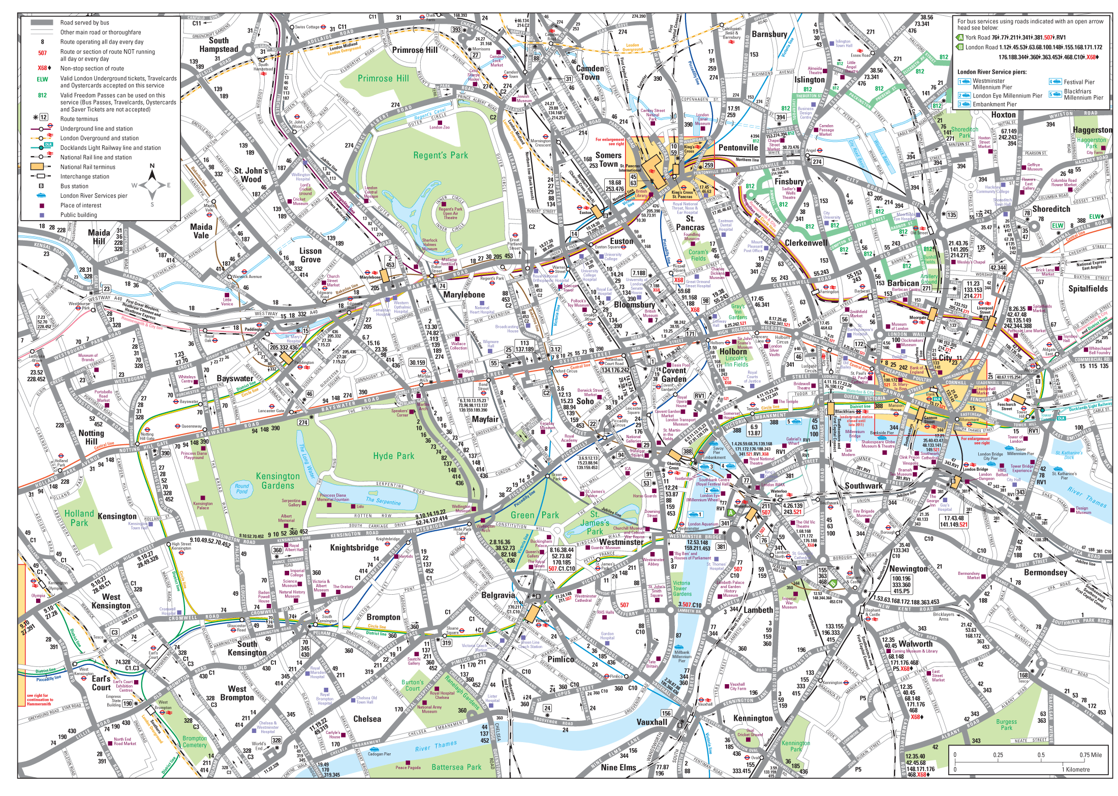 London Detailed Road Map Mapsofnet
