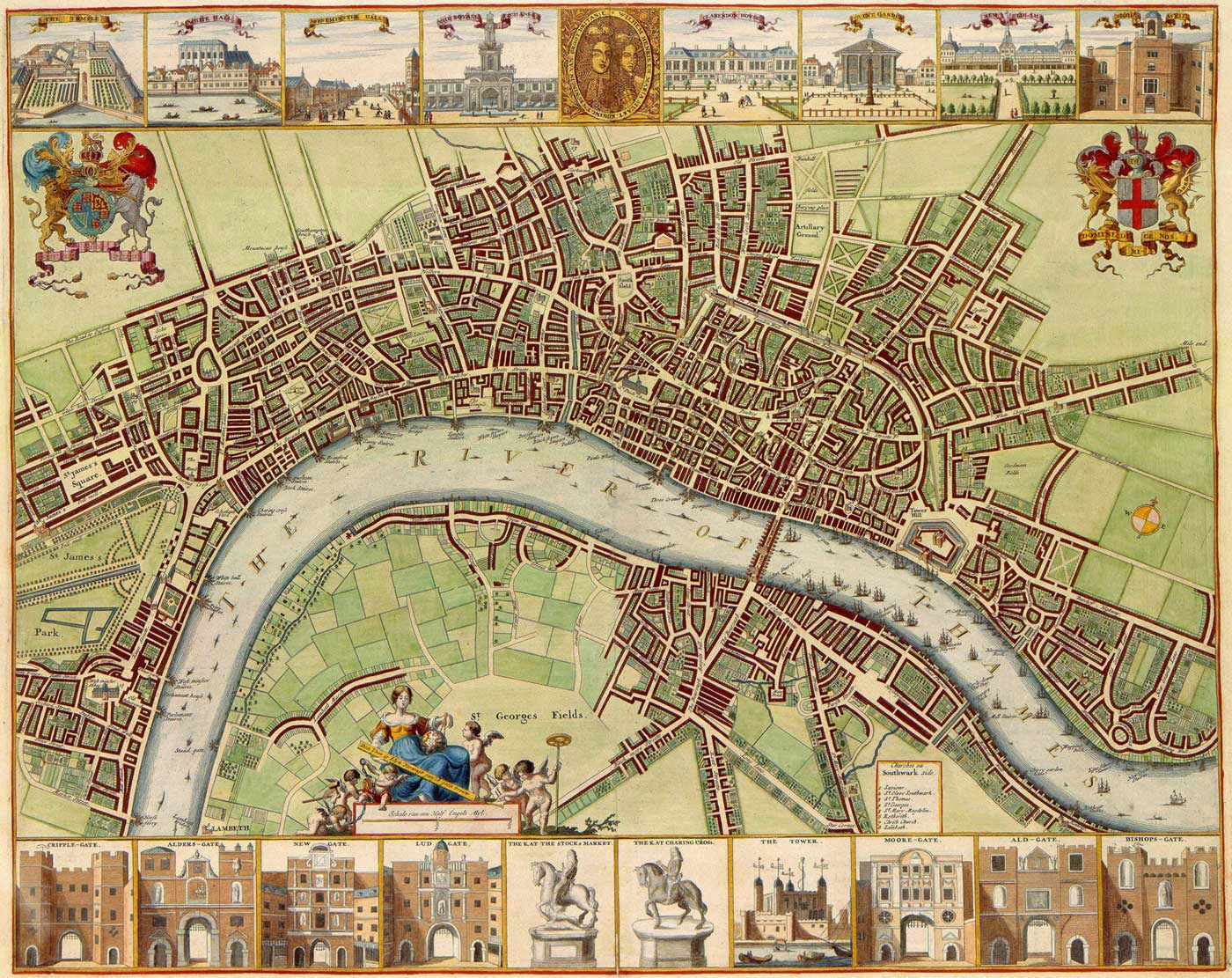 London Historical Map Mapsofnet - London map historical