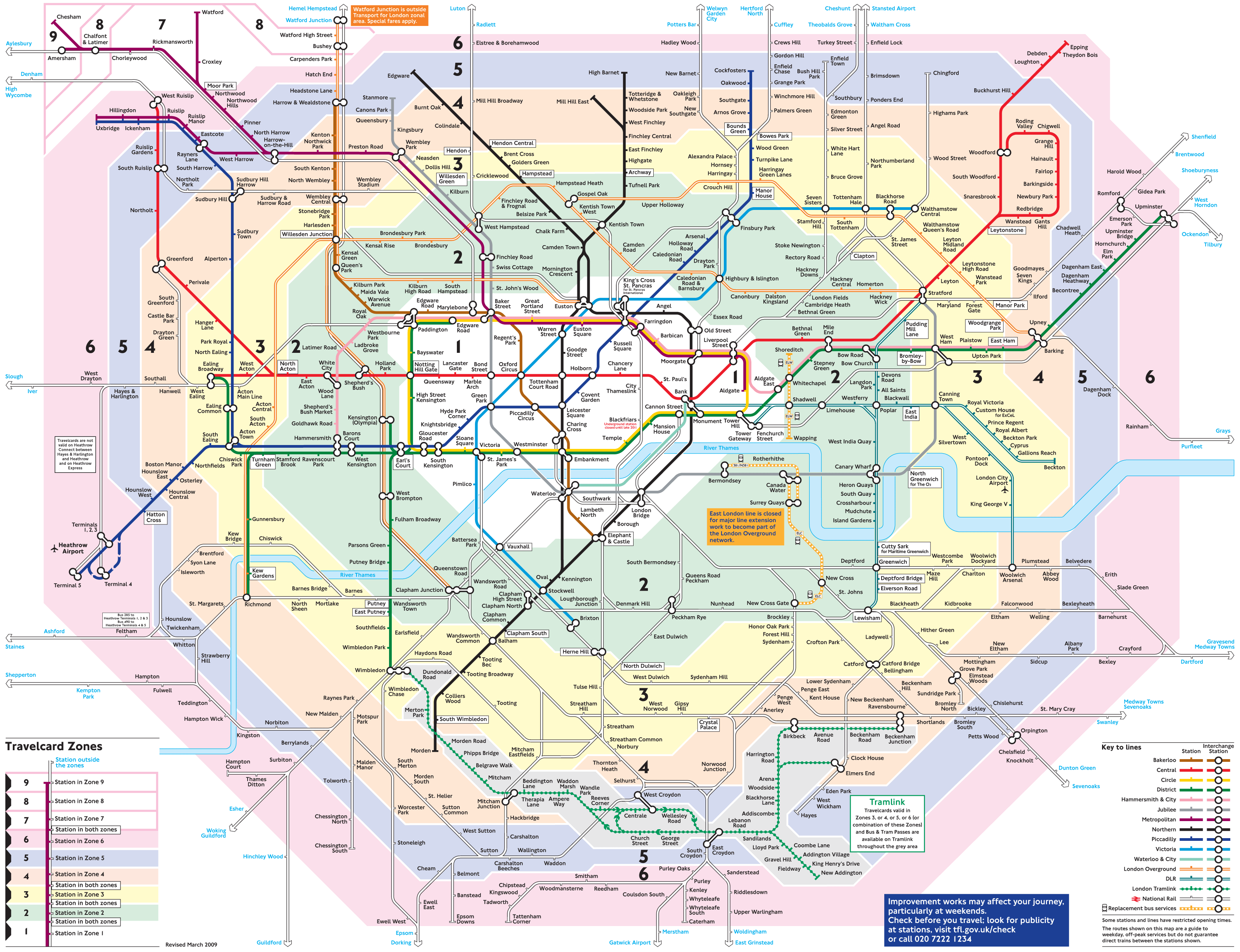 London Metro Map Detailed Mapsof Net
