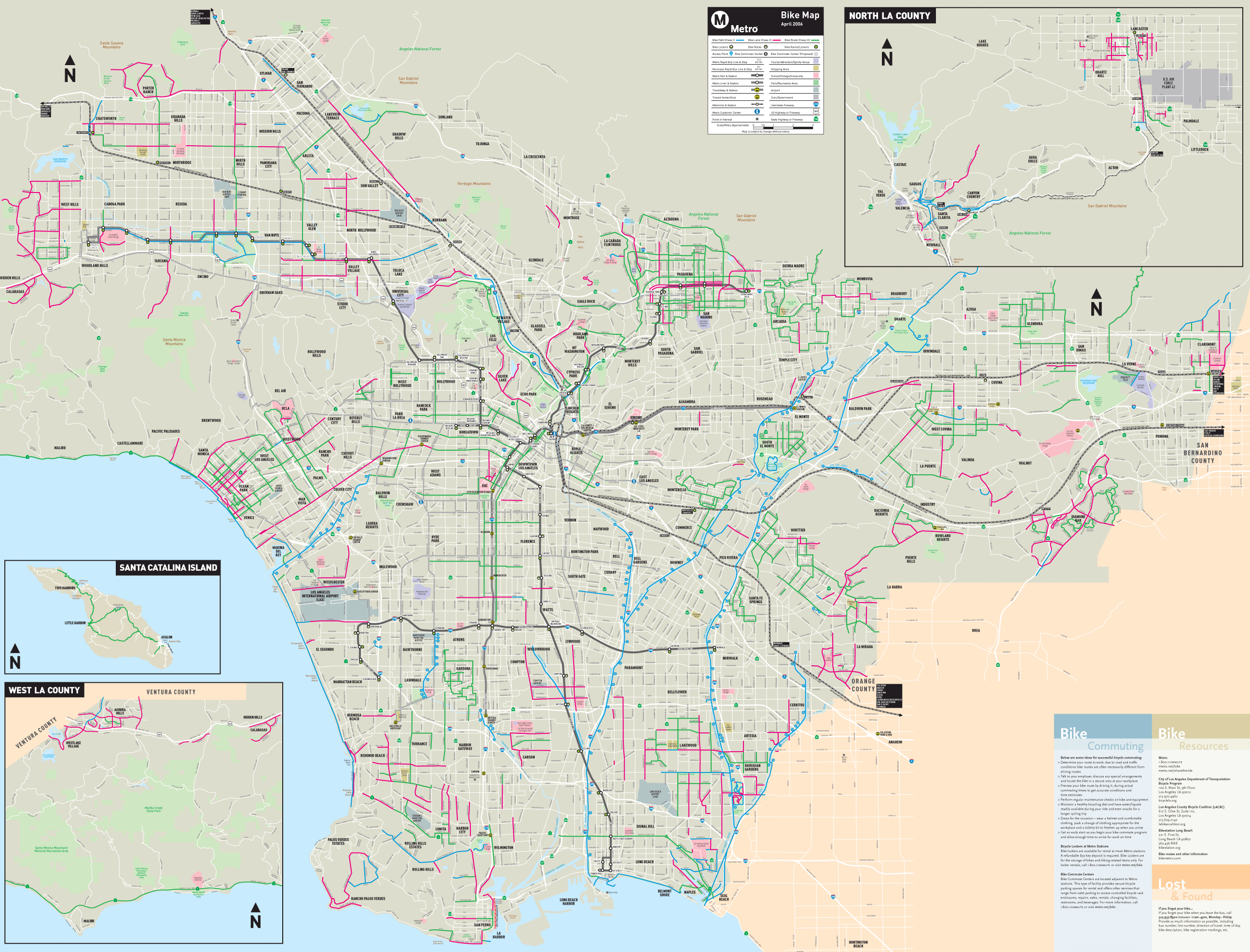 Los Angeles Bike Map