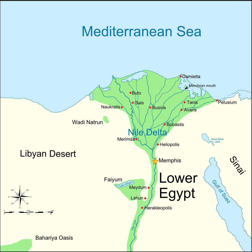 Lower Egypt 460 Bc • Mapsof.net
