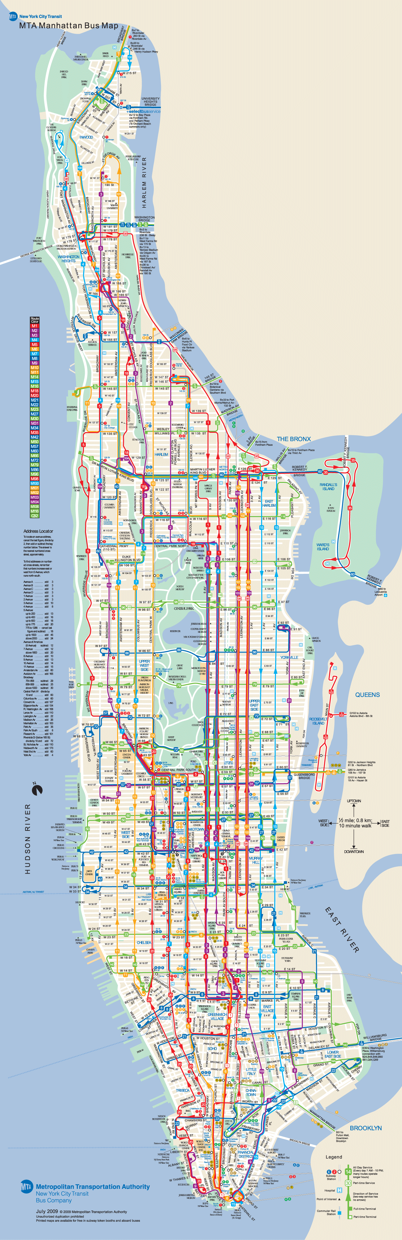 detailed tourist map of manhattan – Manhattan Map Tourist