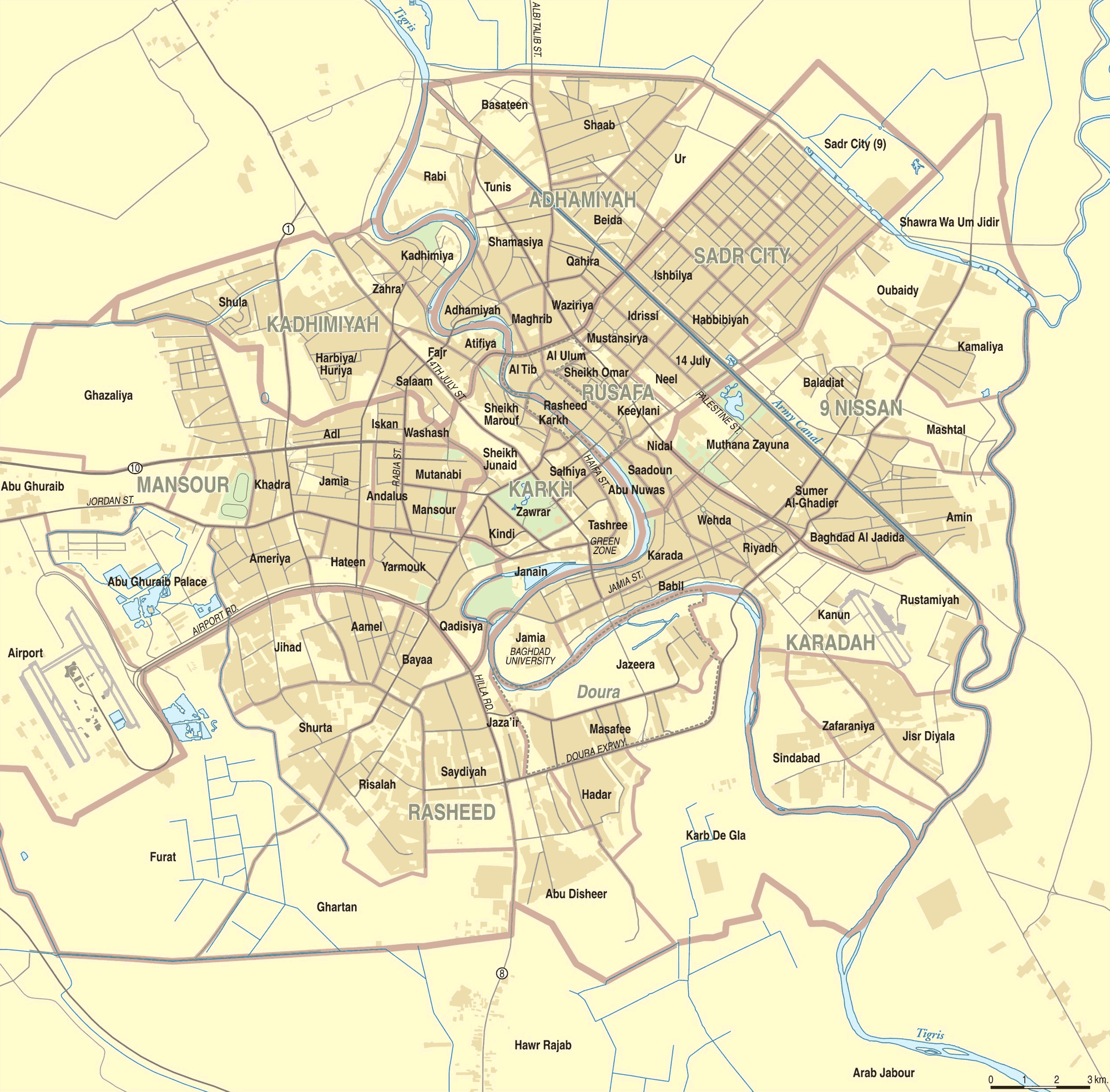 Map Of Baghdad Neighborhoods