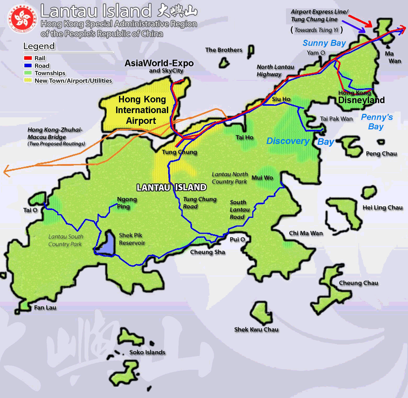 Map Hong Kong Lantau Closer 1 large map
