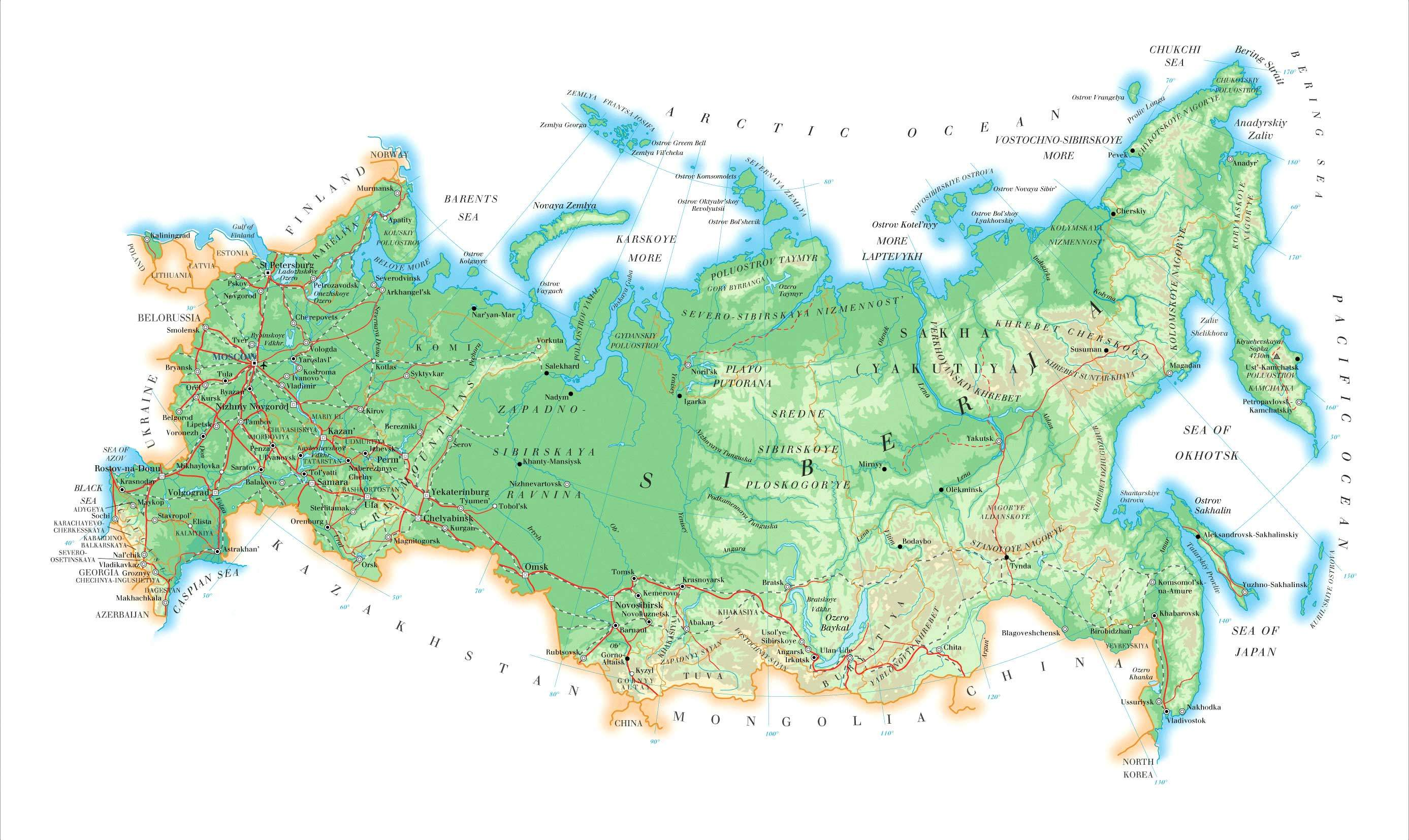 Map Russia Mapsofnet - Map russia