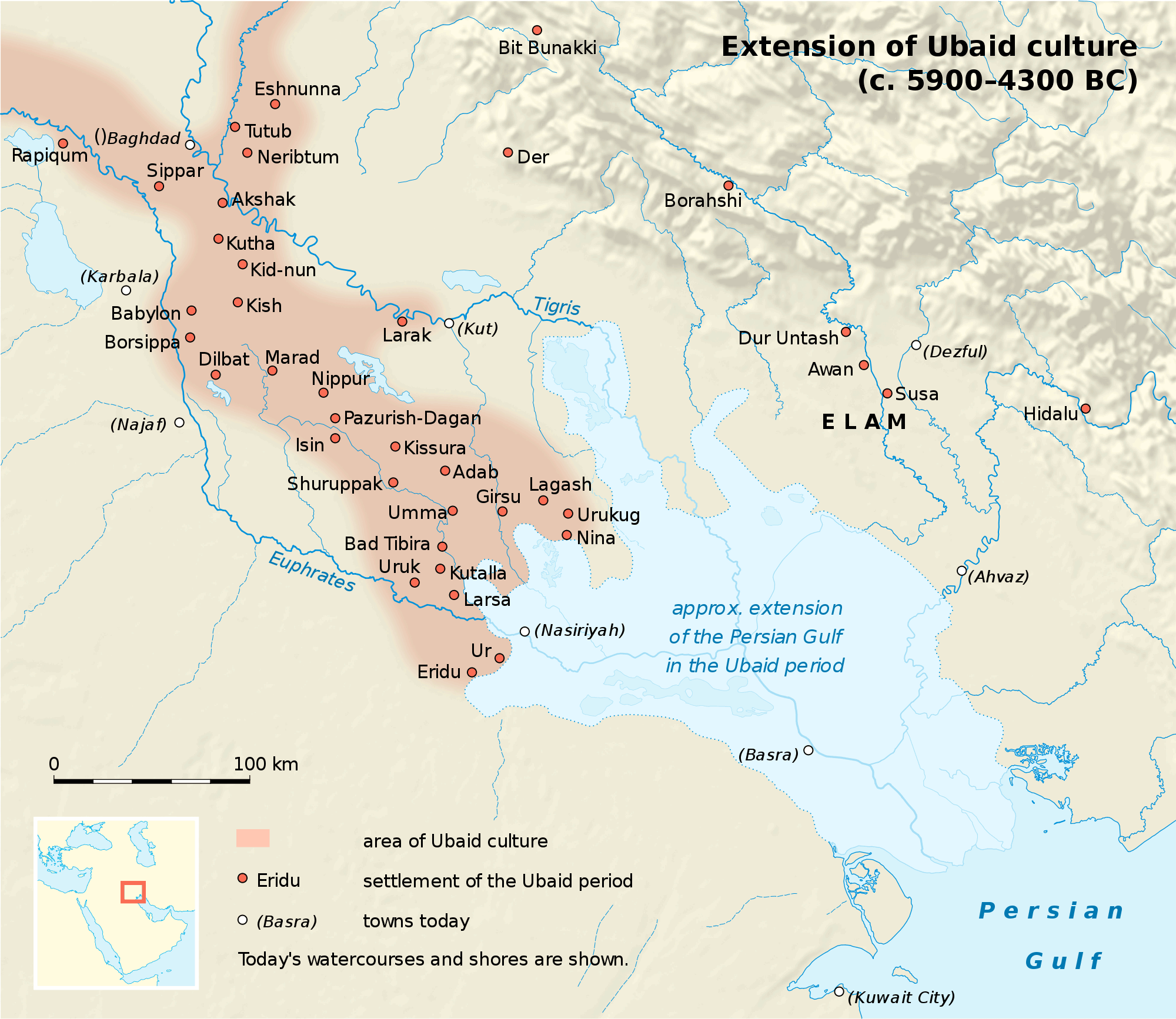 Map Ubaid Culture large map