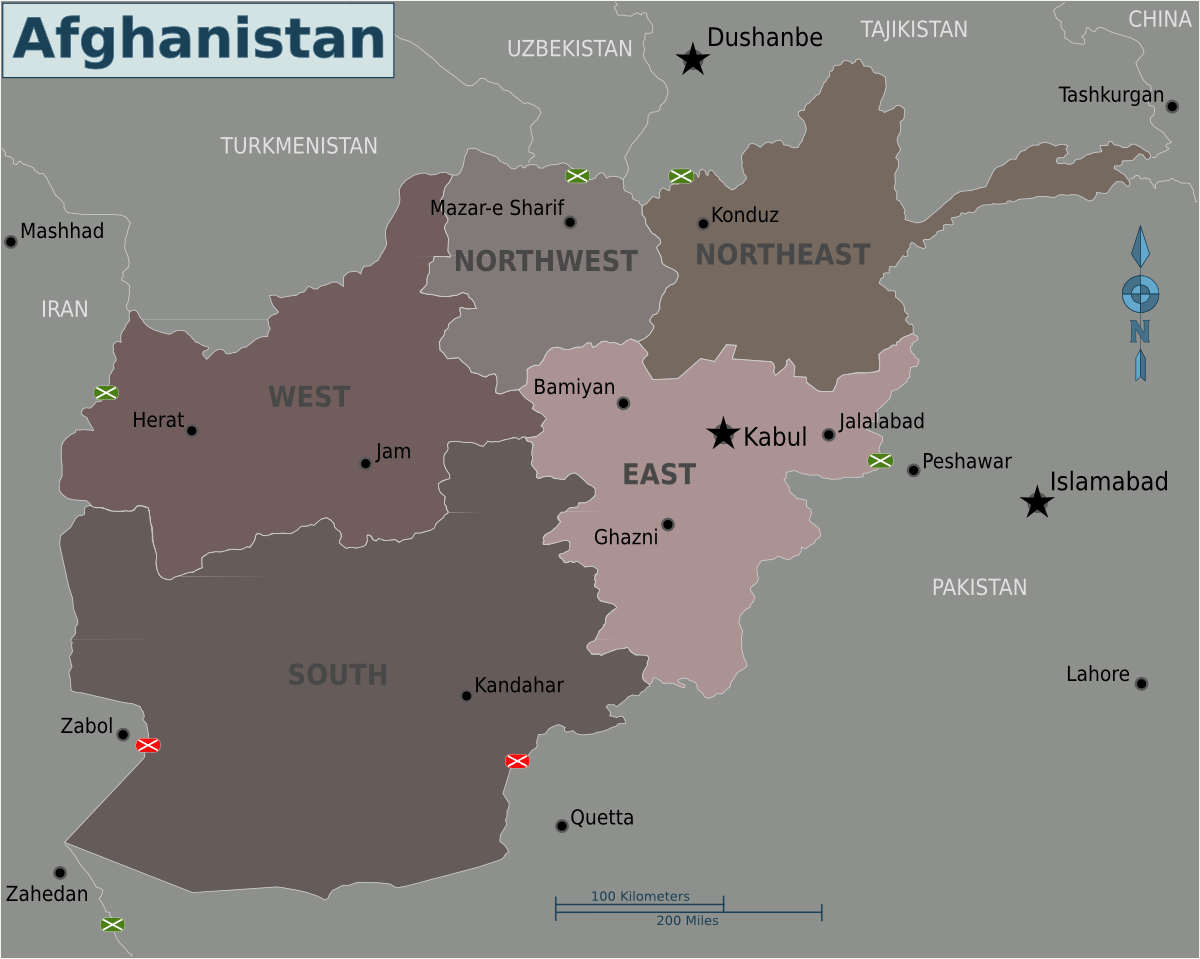 Map of Afghanistan large map