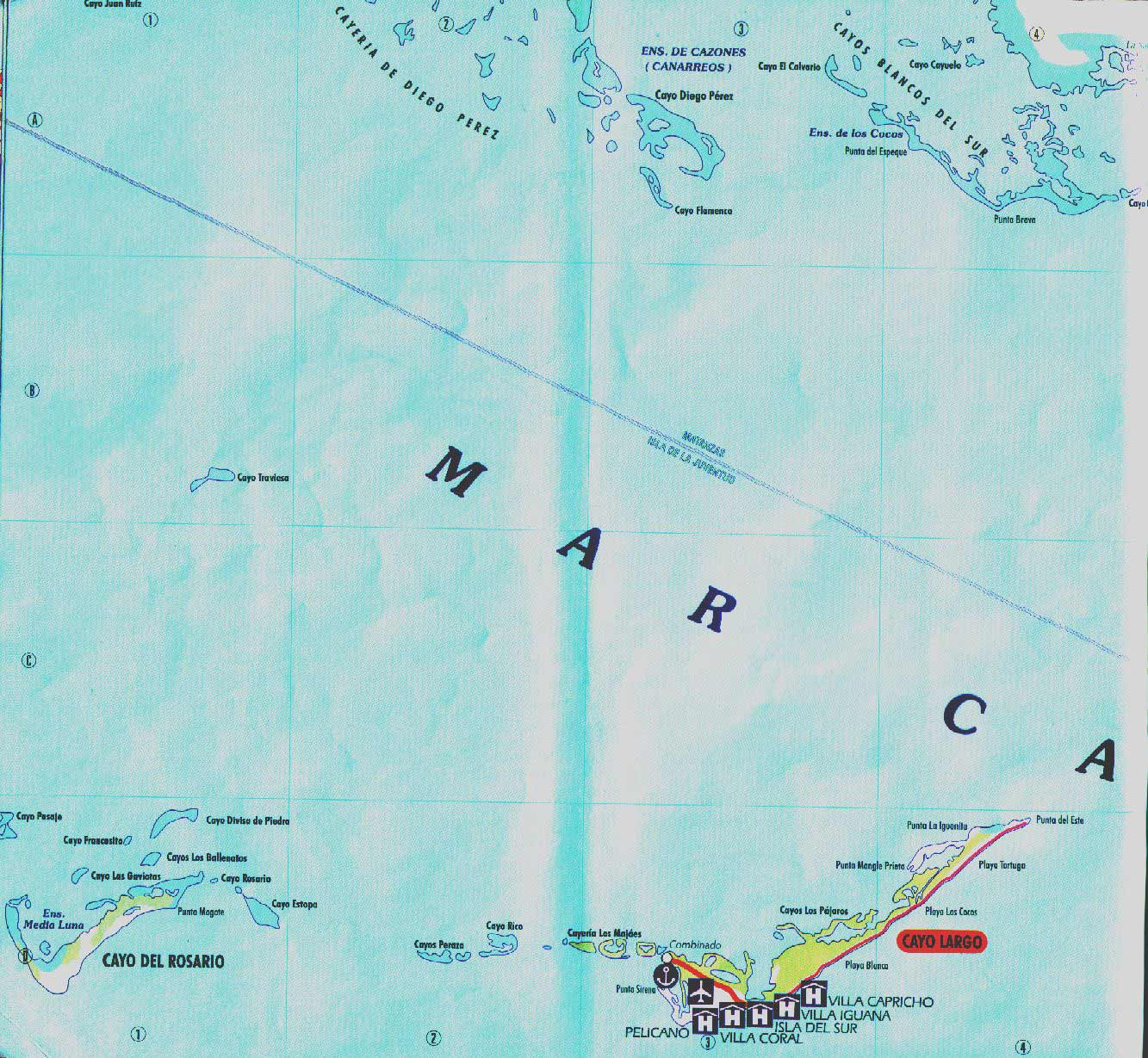 Map of Cayo Largo large map