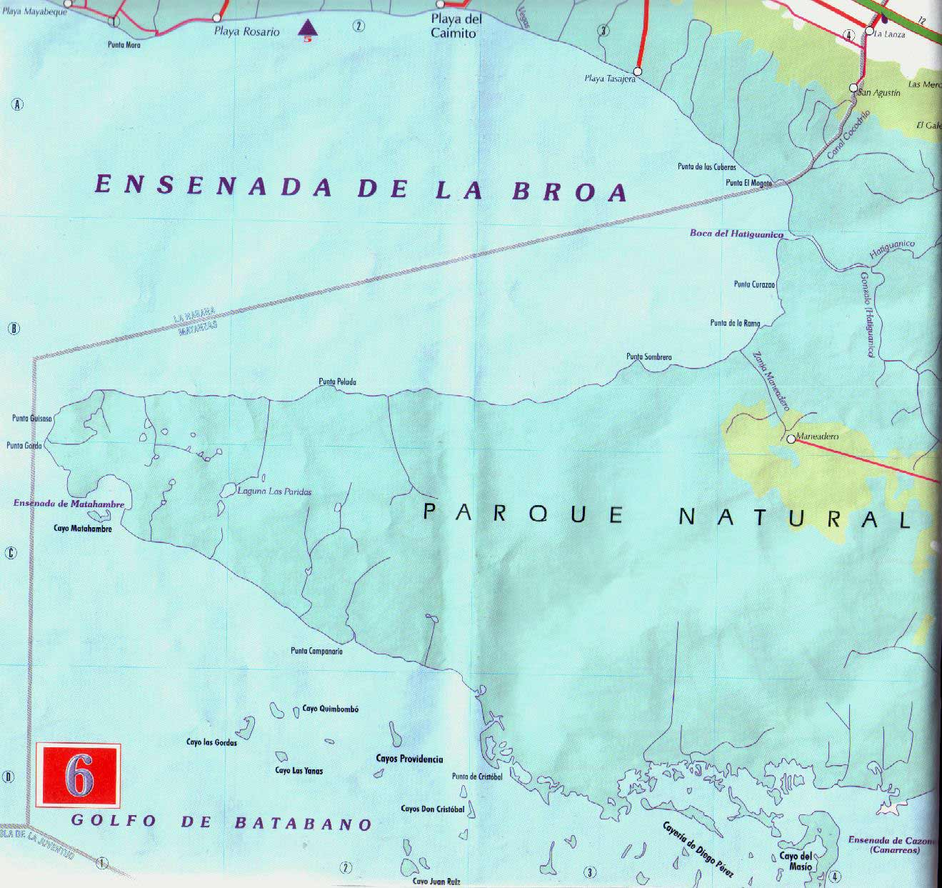 Map of La Cienaga De Zapata large map