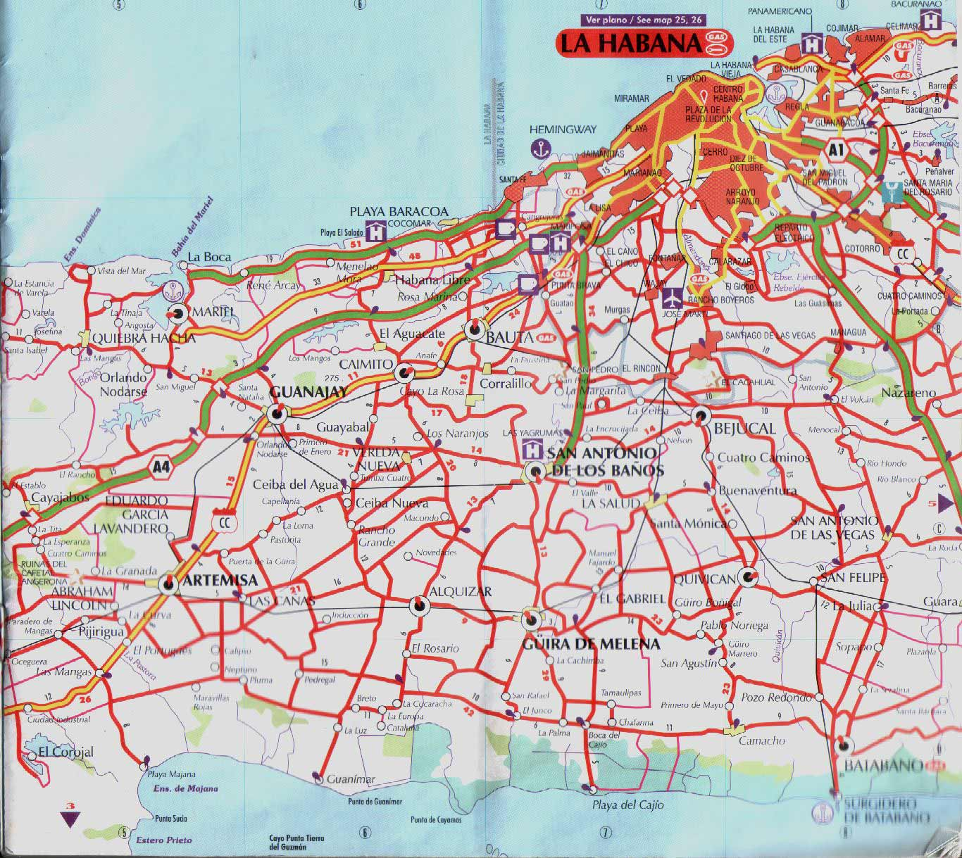 Map of La Habana Mapsofnet