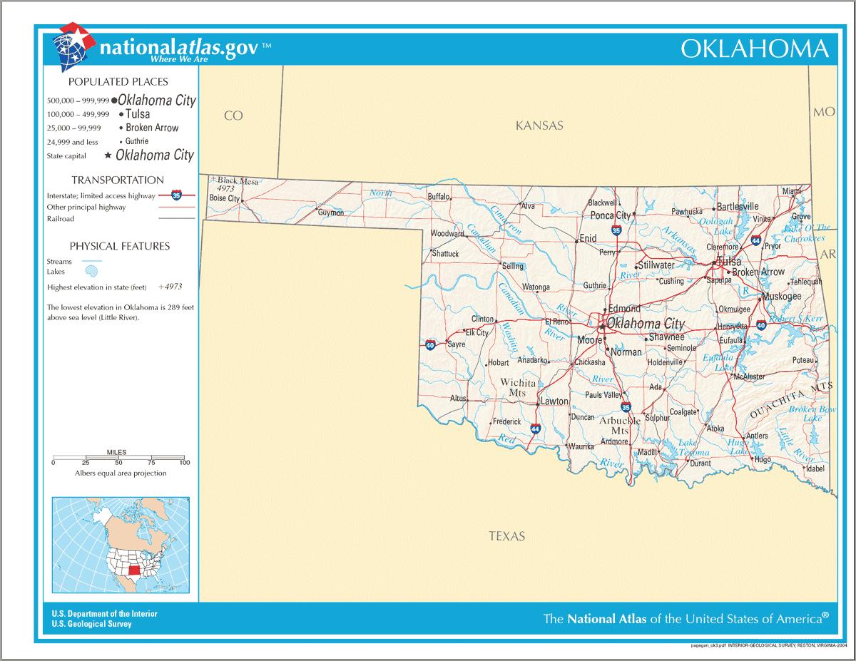 Click On The Map Of Oklahoma Na