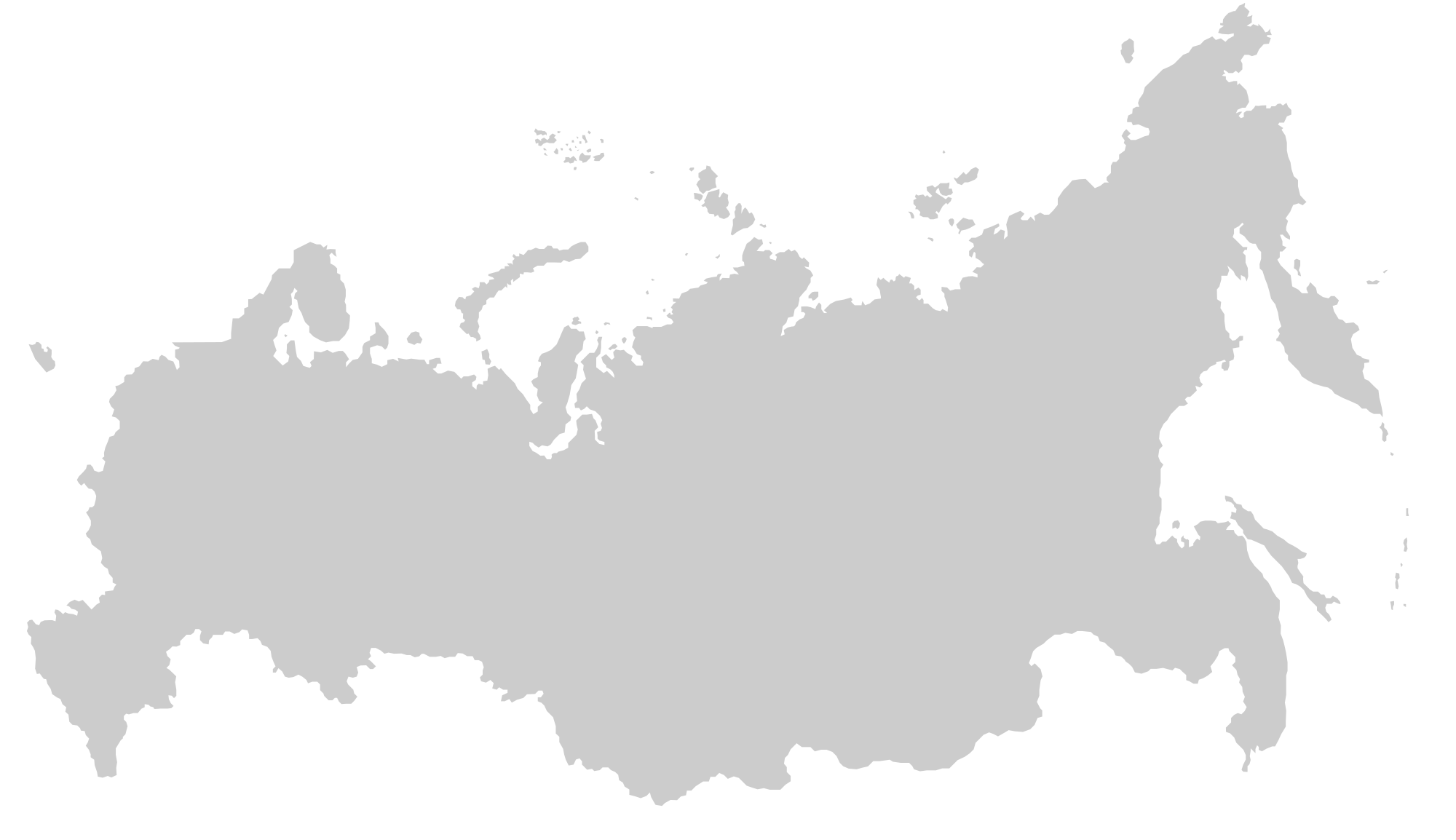 Map of Russian Outline
