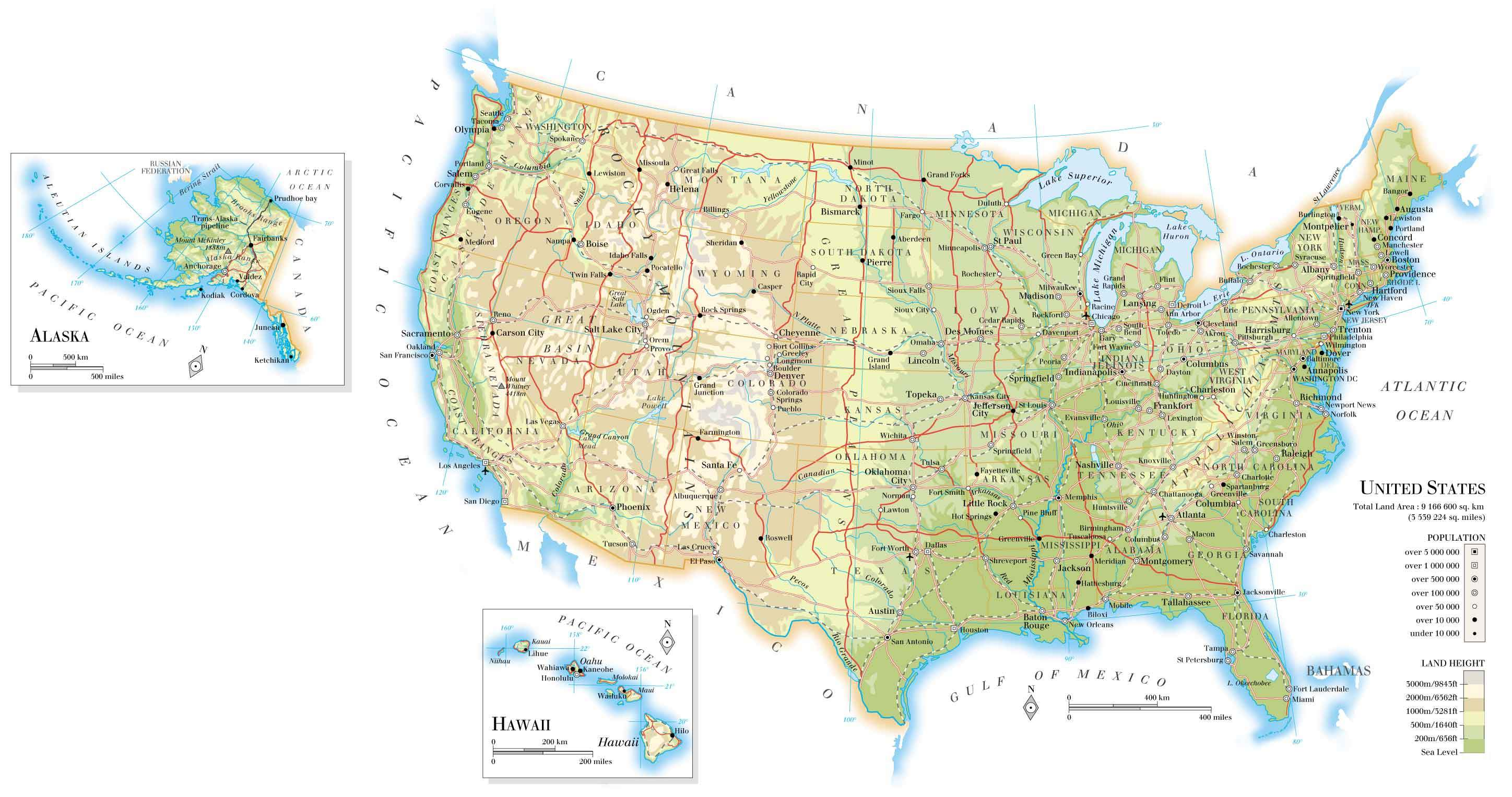 Map of United States • Mapsof.net