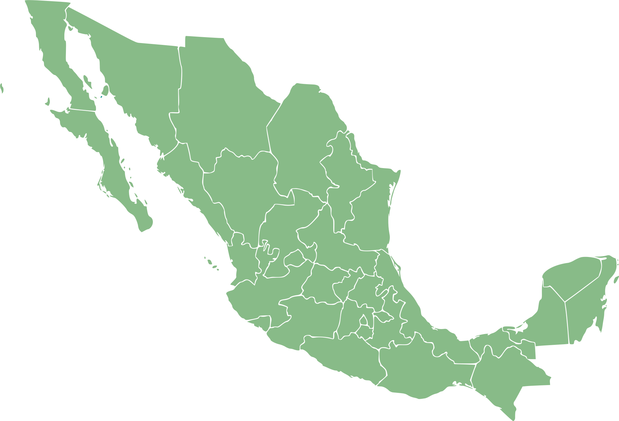 mexico blank with state mexico maps