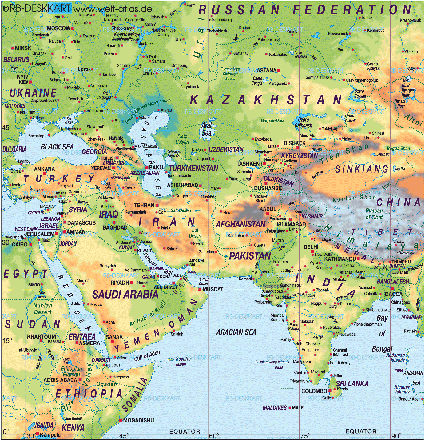 Middle East Map 1 • Mapsof.net