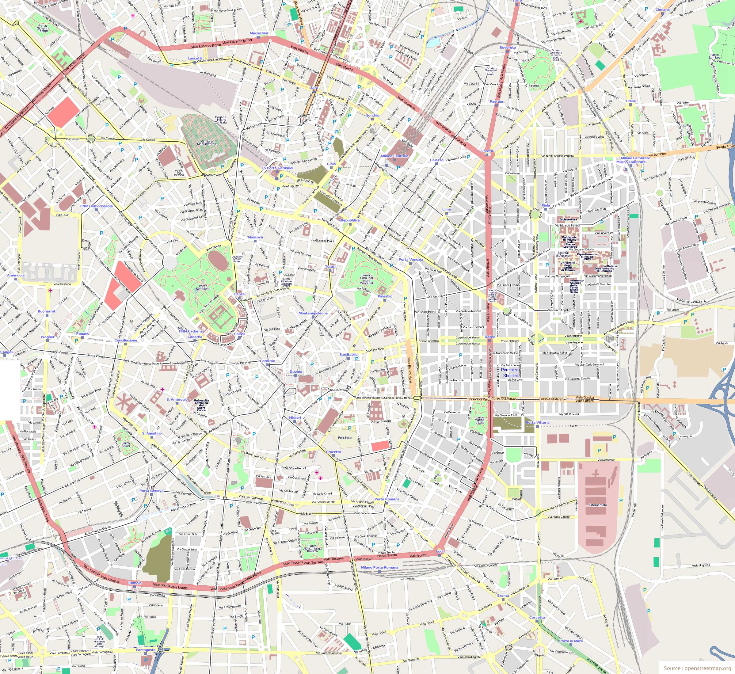 Tourist Travel Map Milan Mapsofnet – Milan Tourist Map