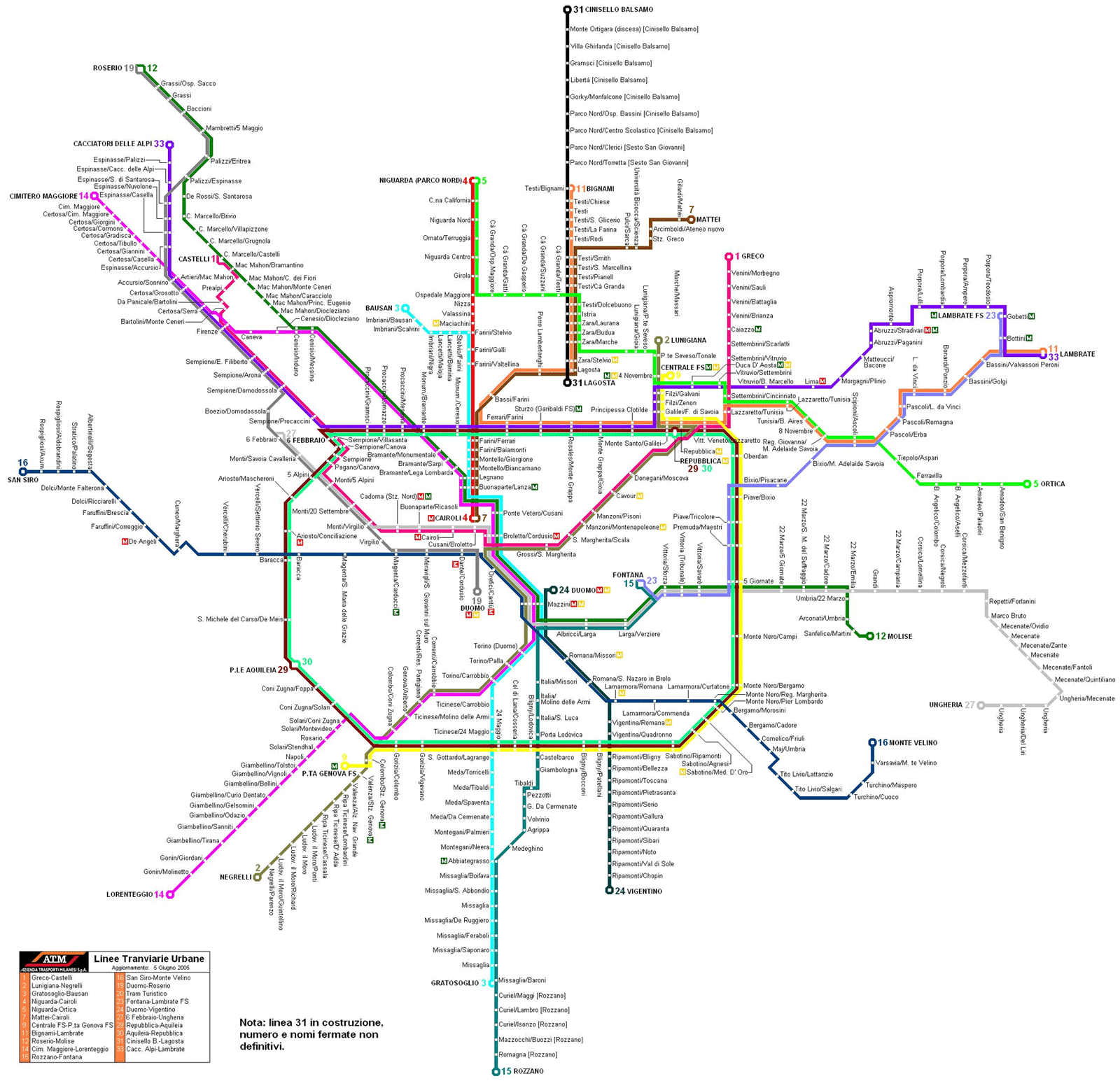 Milan Subway Map