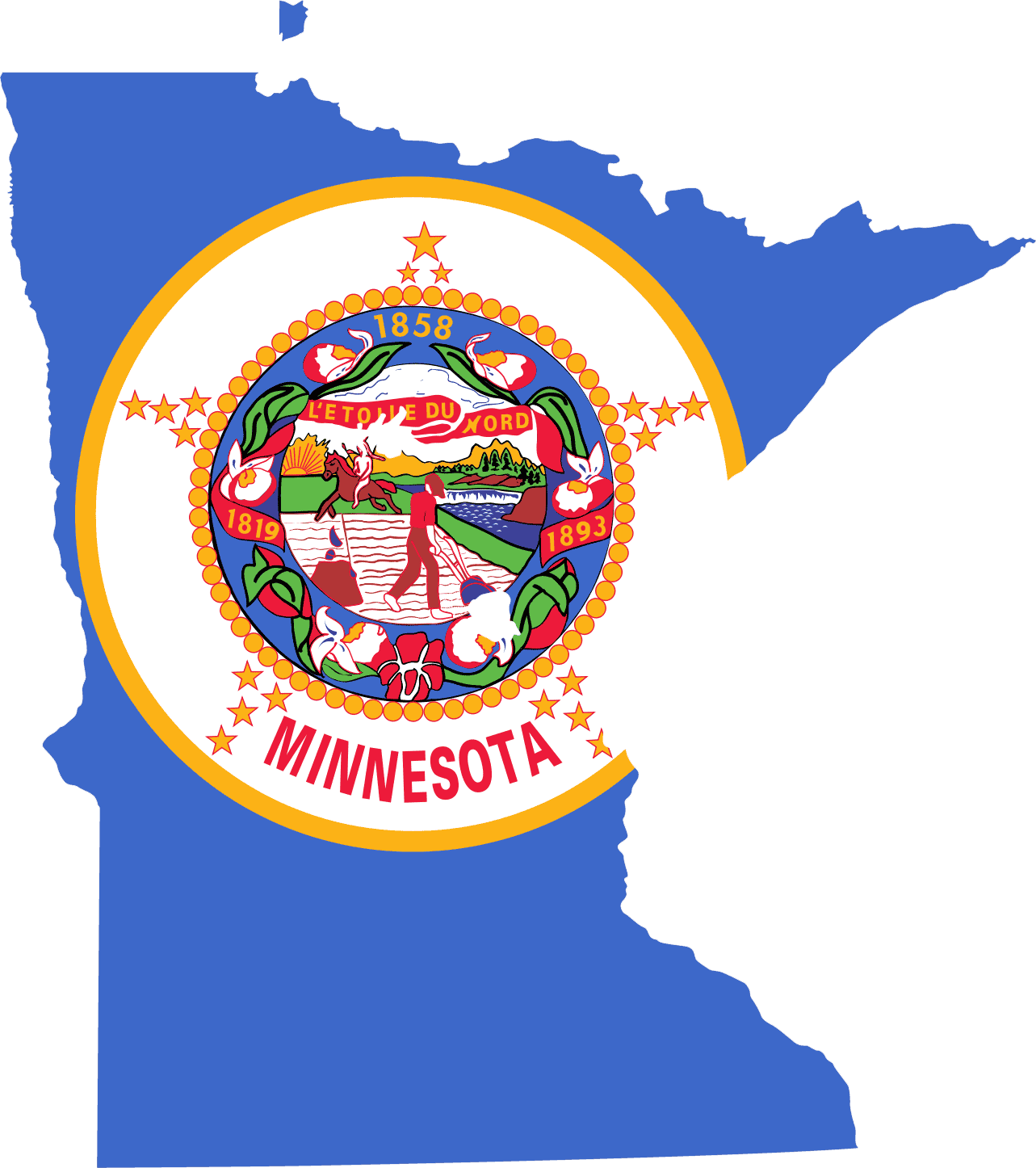 Minnesota Map Png.Minnesota Flag Map Mapsof Net